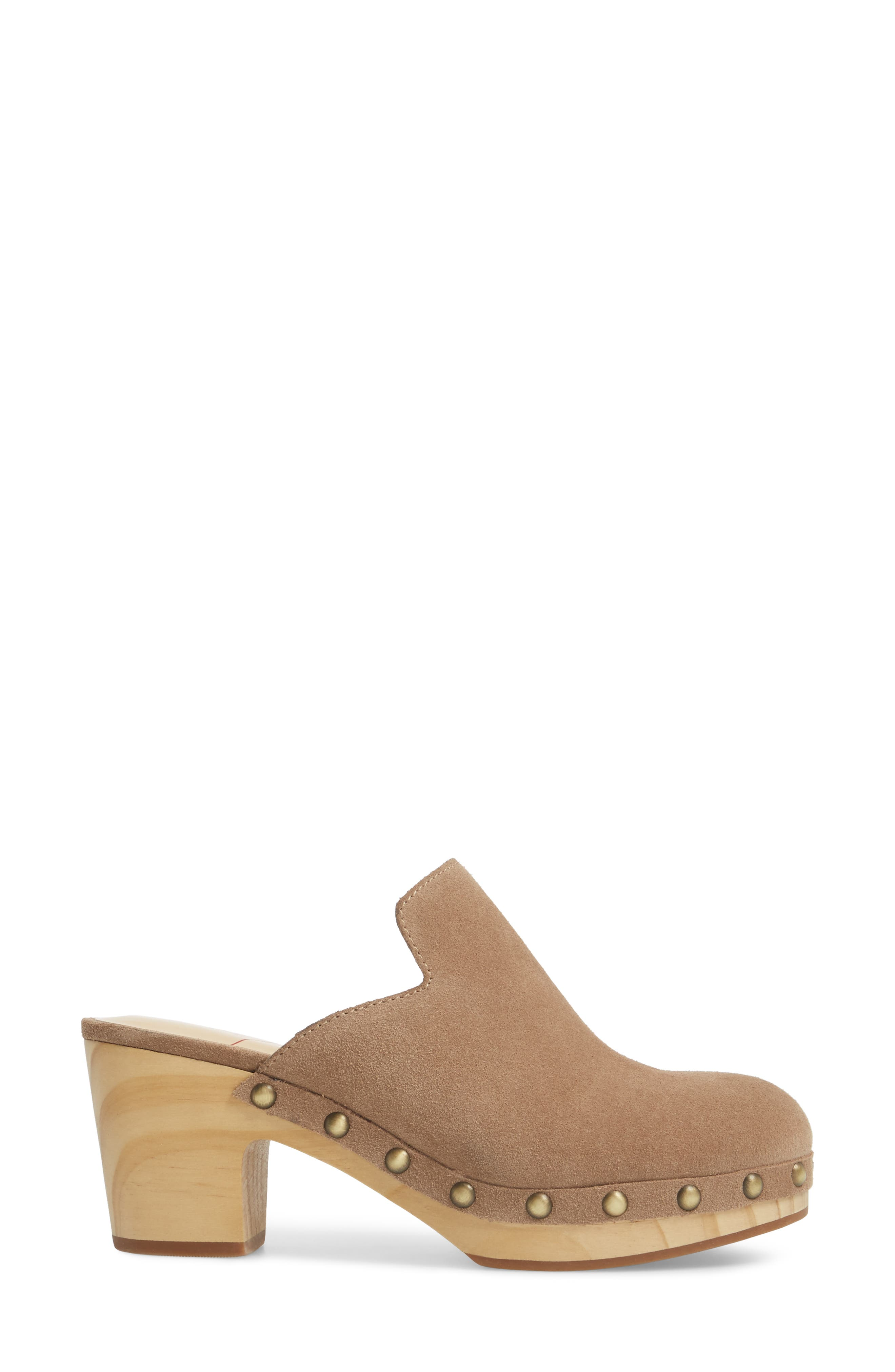 Madelina Clog,                             Alternate thumbnail 3, color,                             Taupe Cow Suede