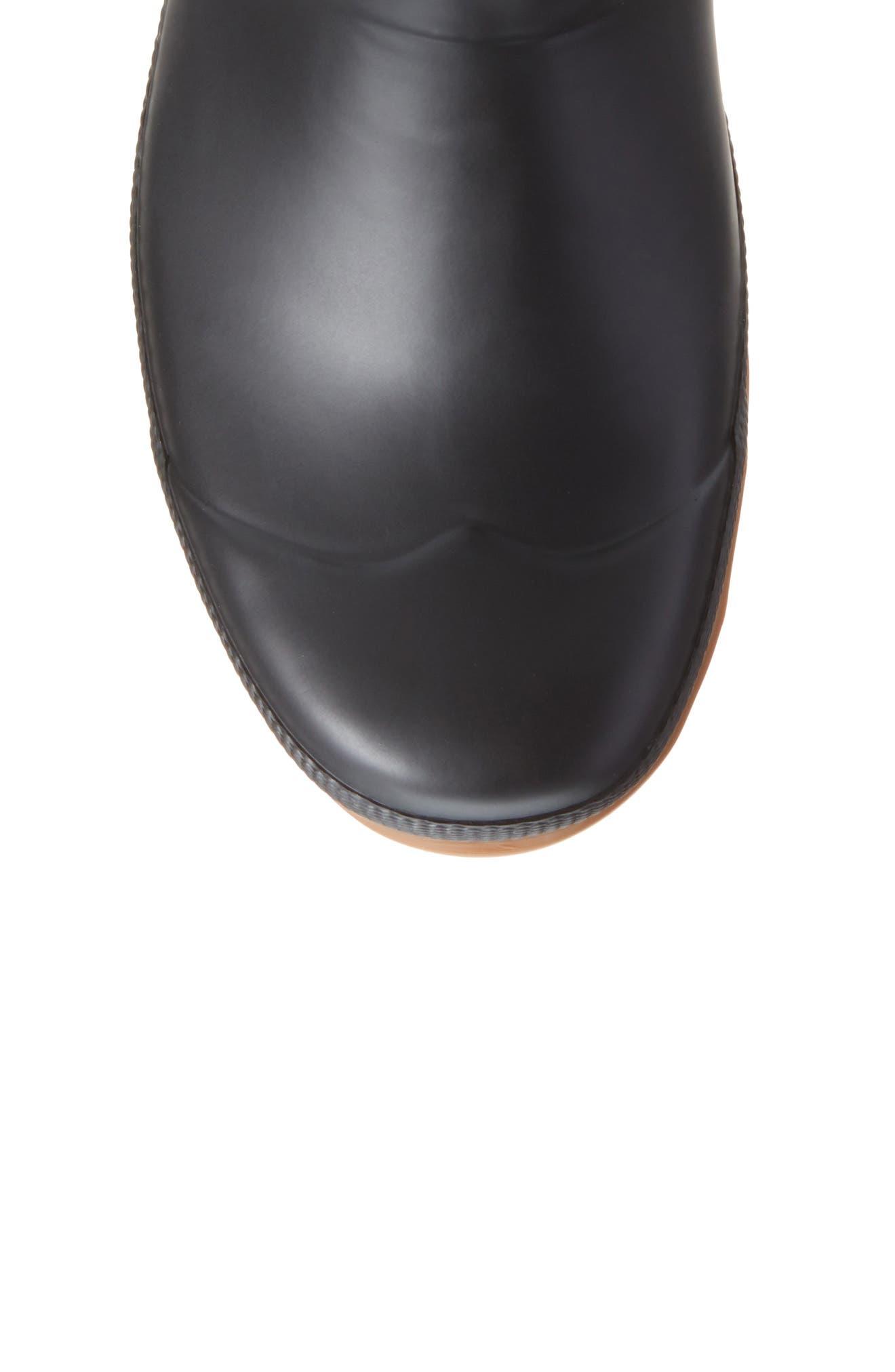 Original Sissinghurst Rain Boot,                             Alternate thumbnail 5, color,                             Black/ Gum