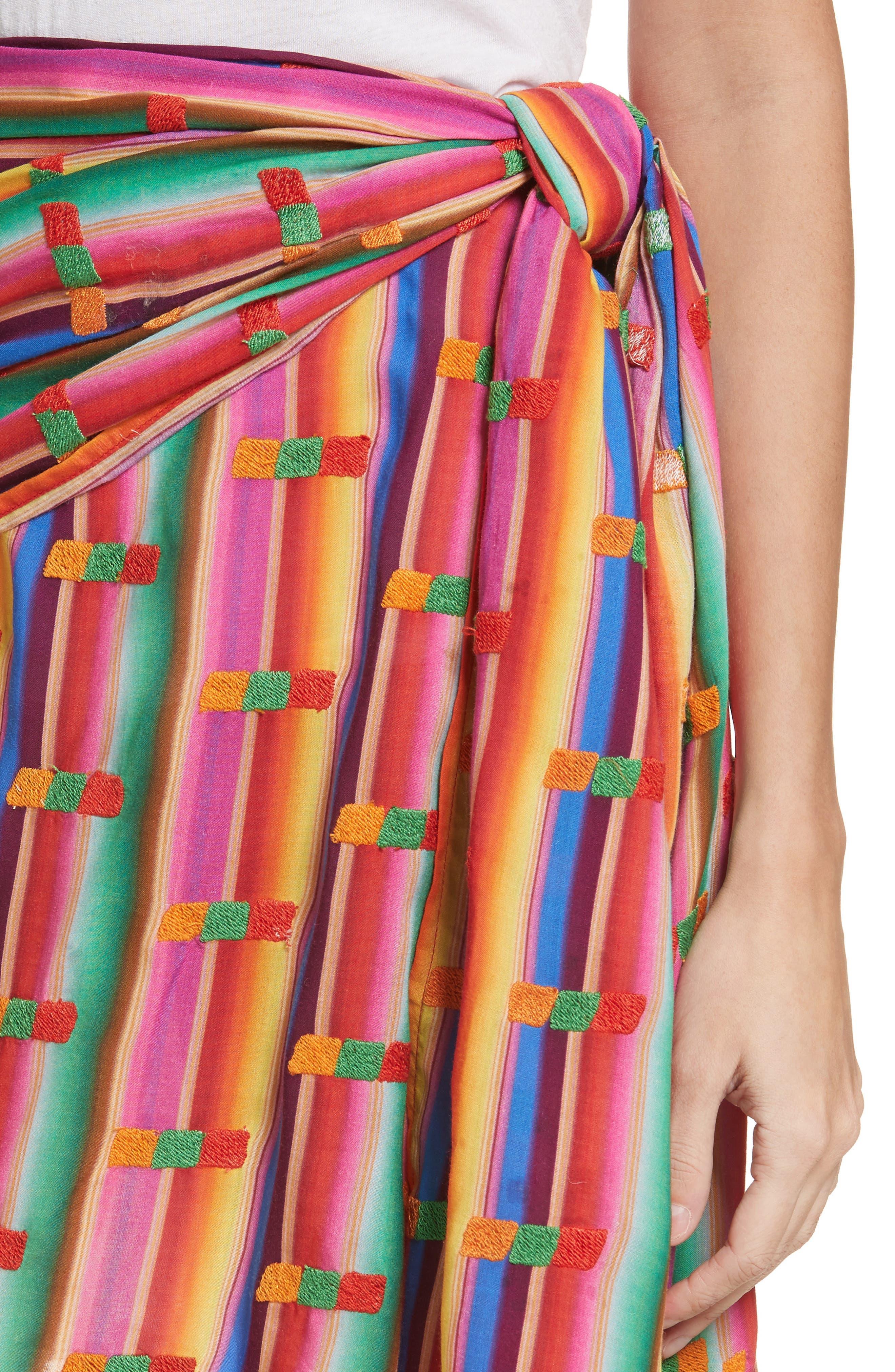 Roselie Wrap Style Skirt,                             Alternate thumbnail 4, color,                             Rainbow