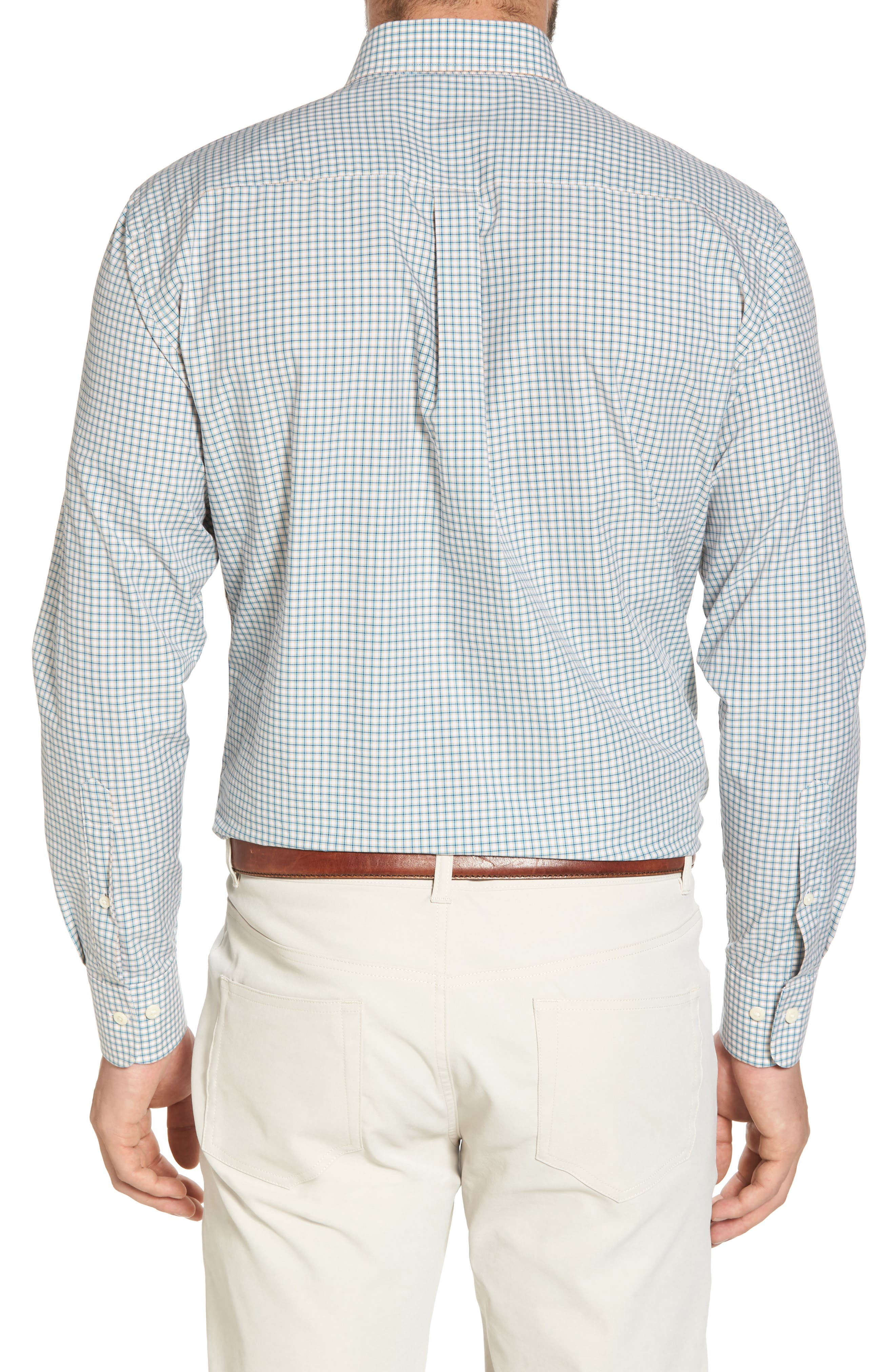 Classic Fit Alligator Check Sport Shirt,                             Alternate thumbnail 2, color,                             Dreamsicle