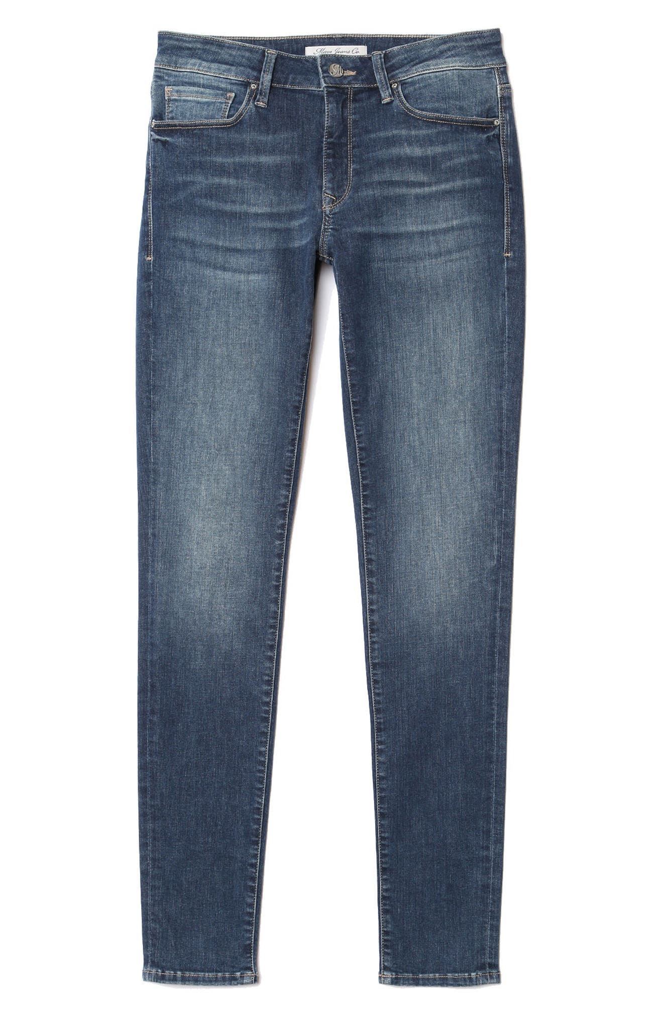 Alternate Image 5  - Mavi Adriana Skinny Jeans (Shaded Tribeca)