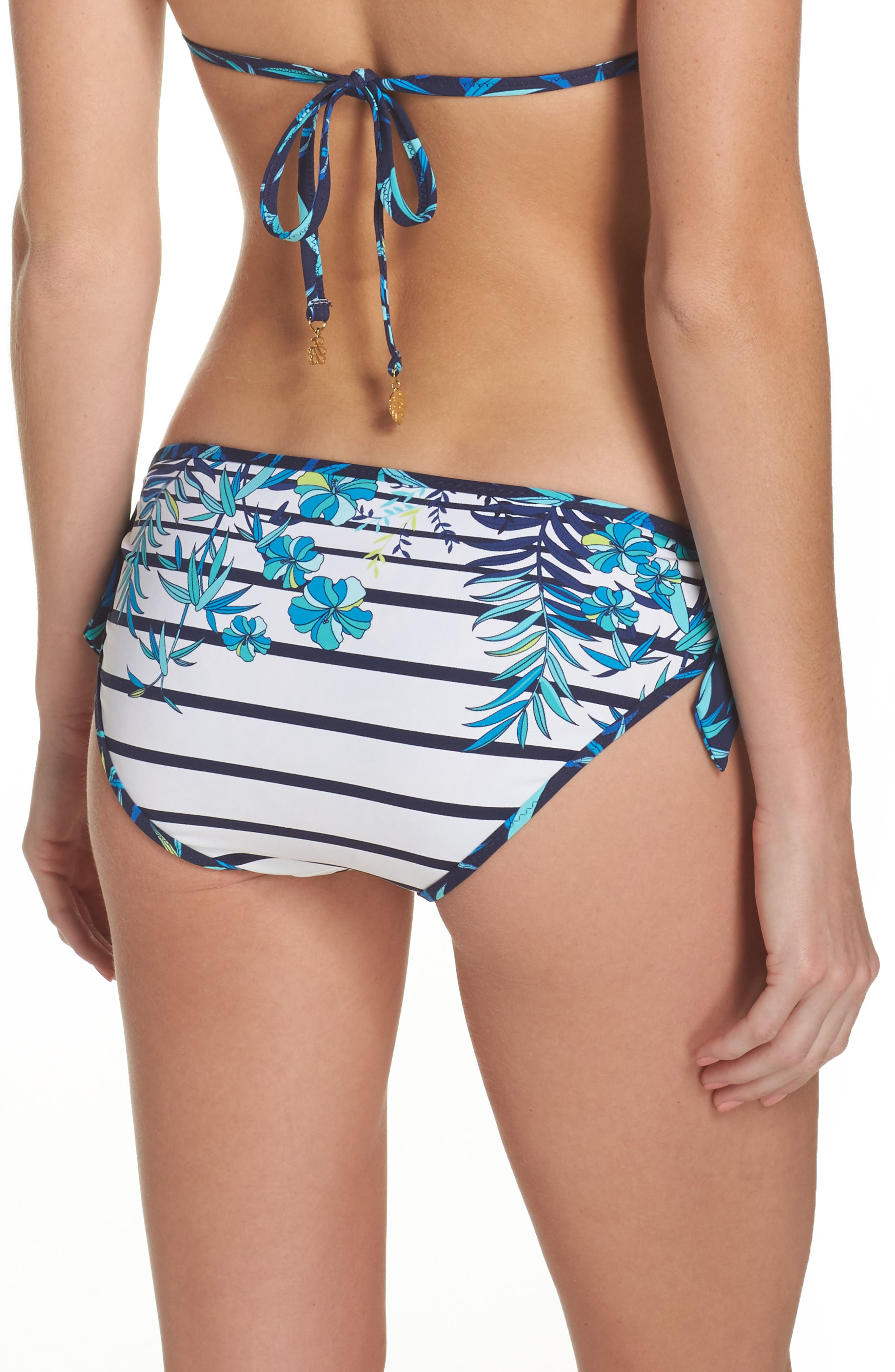 Tropical Swirl Reversible Bikini Bottoms,                             Alternate thumbnail 2, color,                             Blue/ White