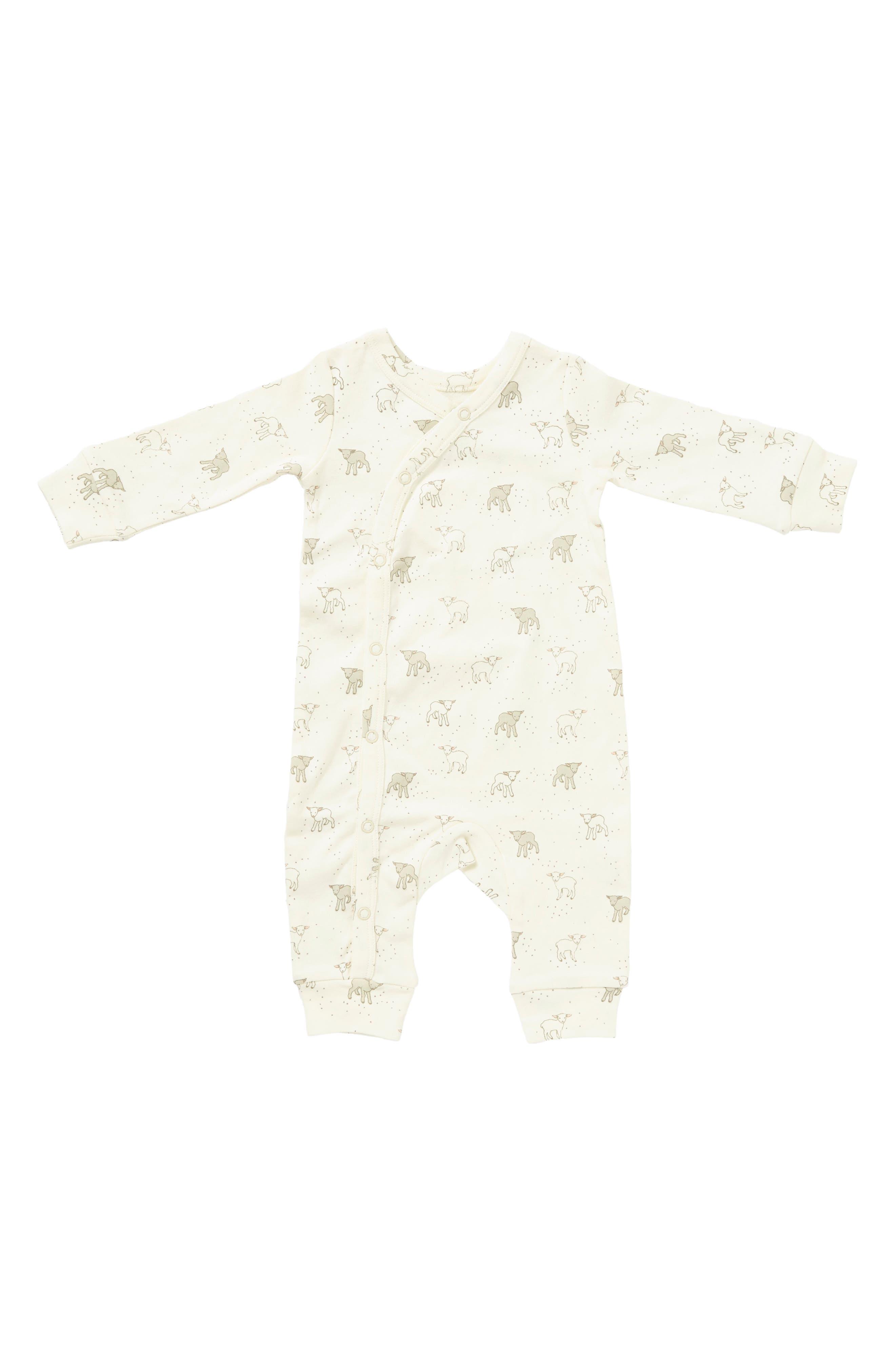 Main Image - Petit Pehr Little Lamb Romper (Baby)