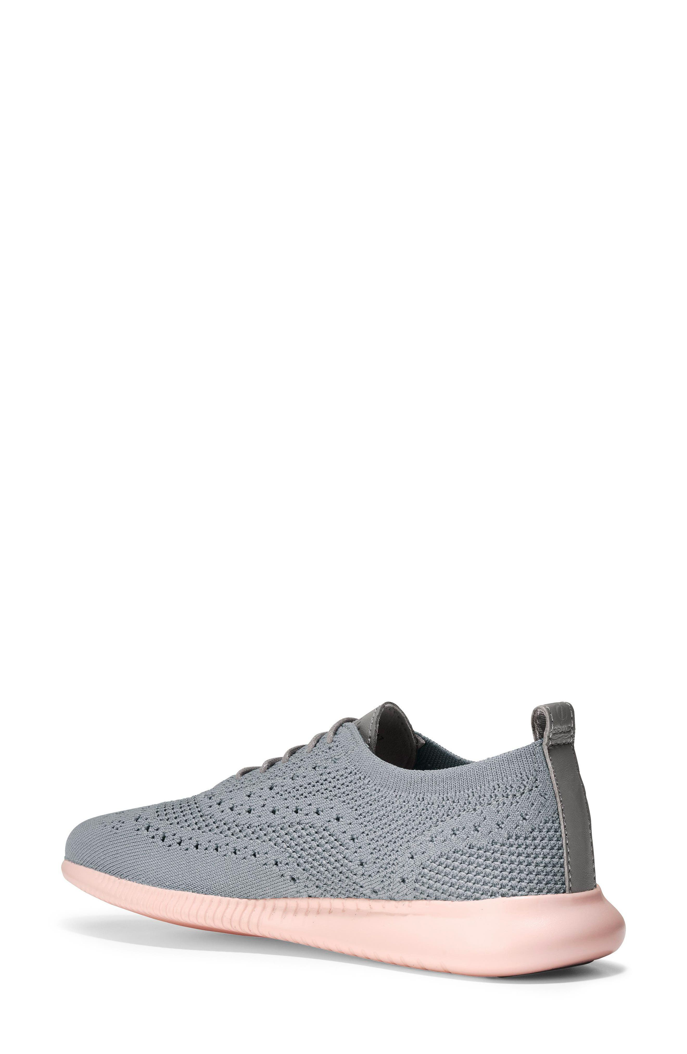 2.ZERØGRAND Stitchlite Wingtip Sneaker,                             Alternate thumbnail 2, color,                             Ironstone Knit Fabric