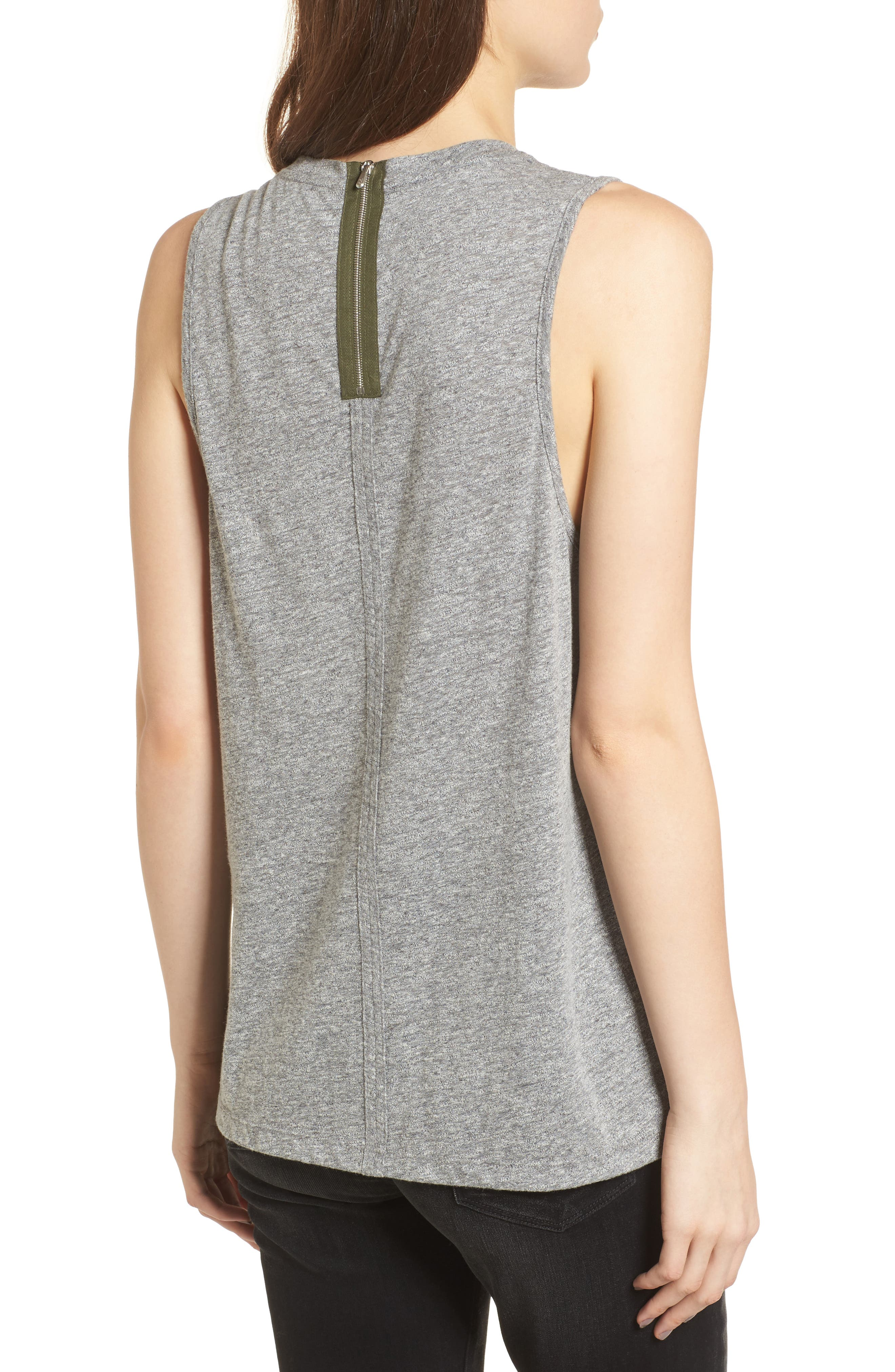 Serena Tank,                             Alternate thumbnail 2, color,                             Speckled Heather Gray