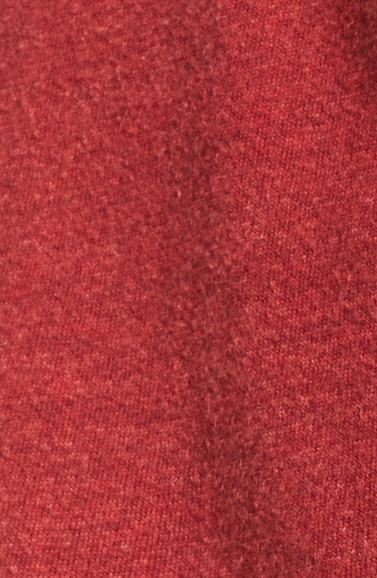 Bell Sleeve Terry Hoodie,                             Alternate thumbnail 5, color,                             Sun Faded Crimson