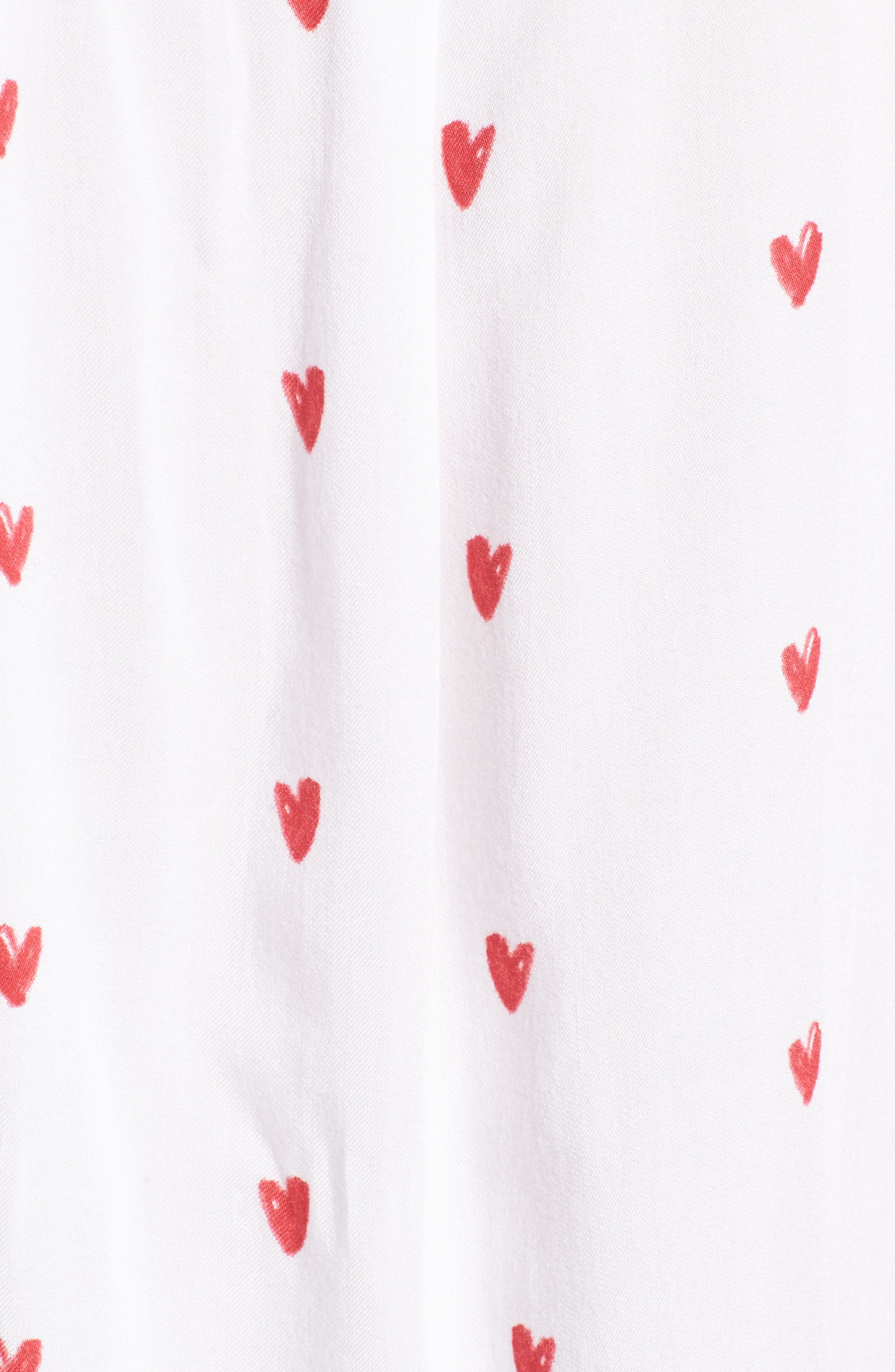 Val Tie Front Shirt,                             Alternate thumbnail 6, color,                             Lipstick Hearts