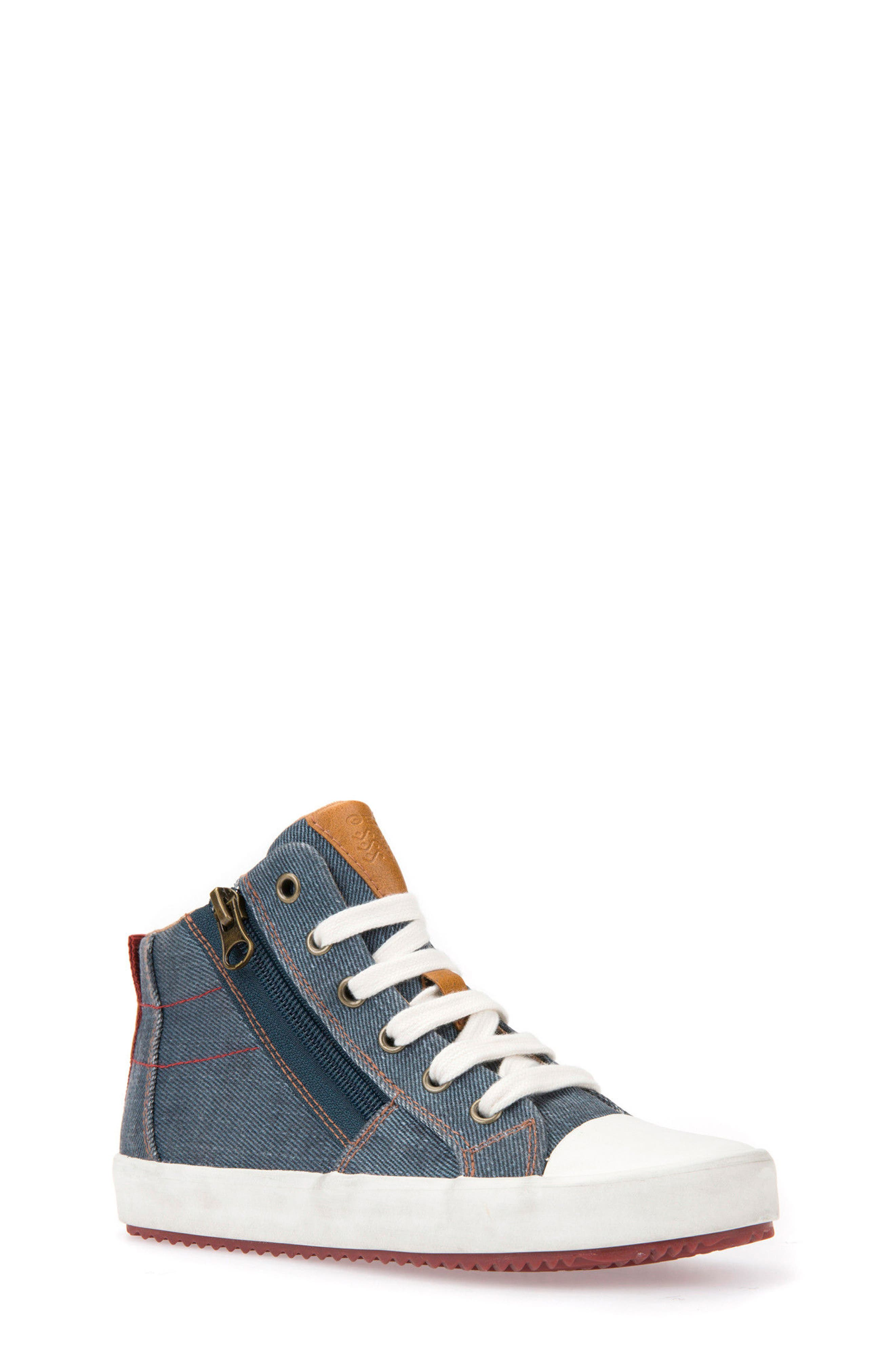 Alonisso High Top Sneaker,                             Main thumbnail 1, color,                             Blue/ Dark Red