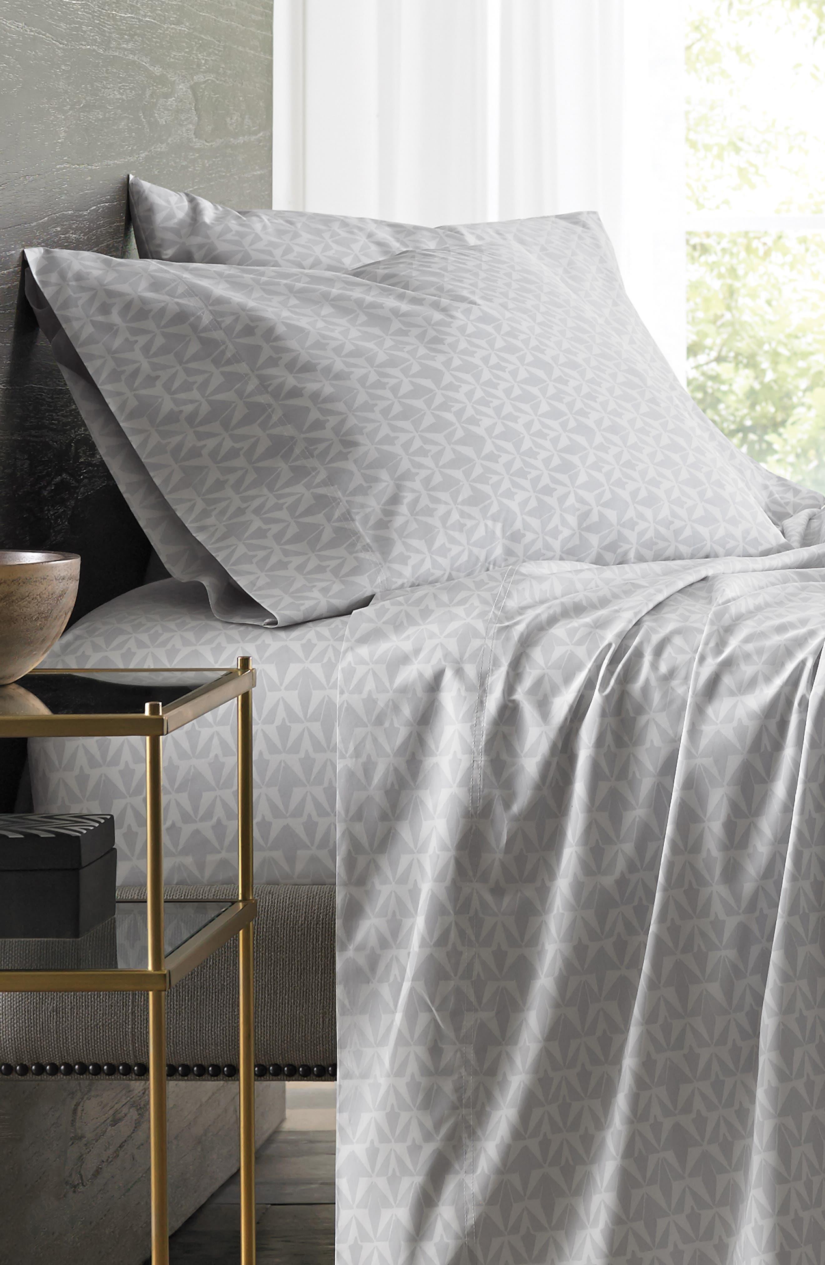 Grasslands 300 Thread Count Pair of Pillowcases,                             Alternate thumbnail 3, color,                             Nibus/ Light/ Pastel Grey