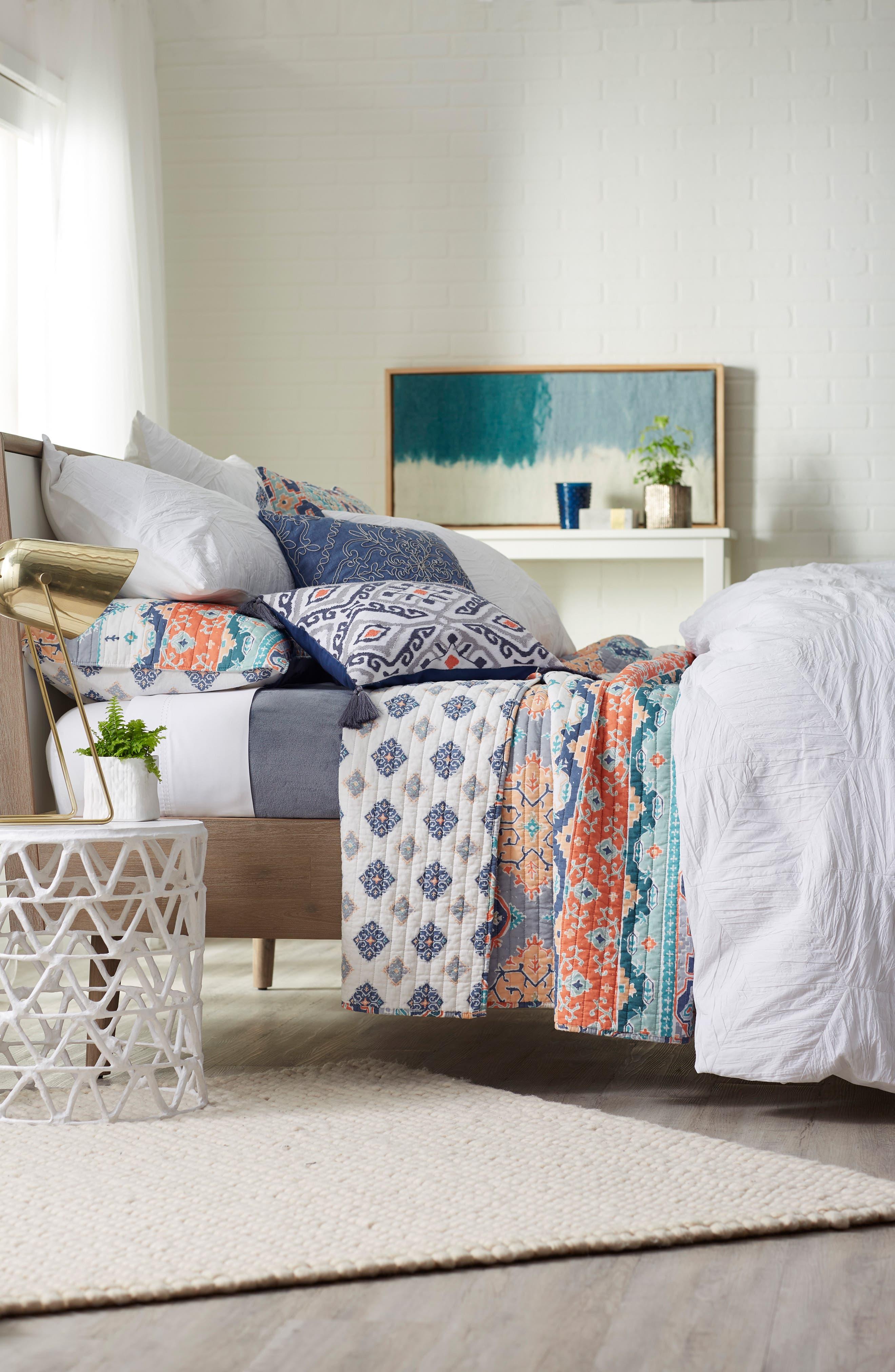 Saida Reversible Quilt,                         Main,                         color, Orange Multi