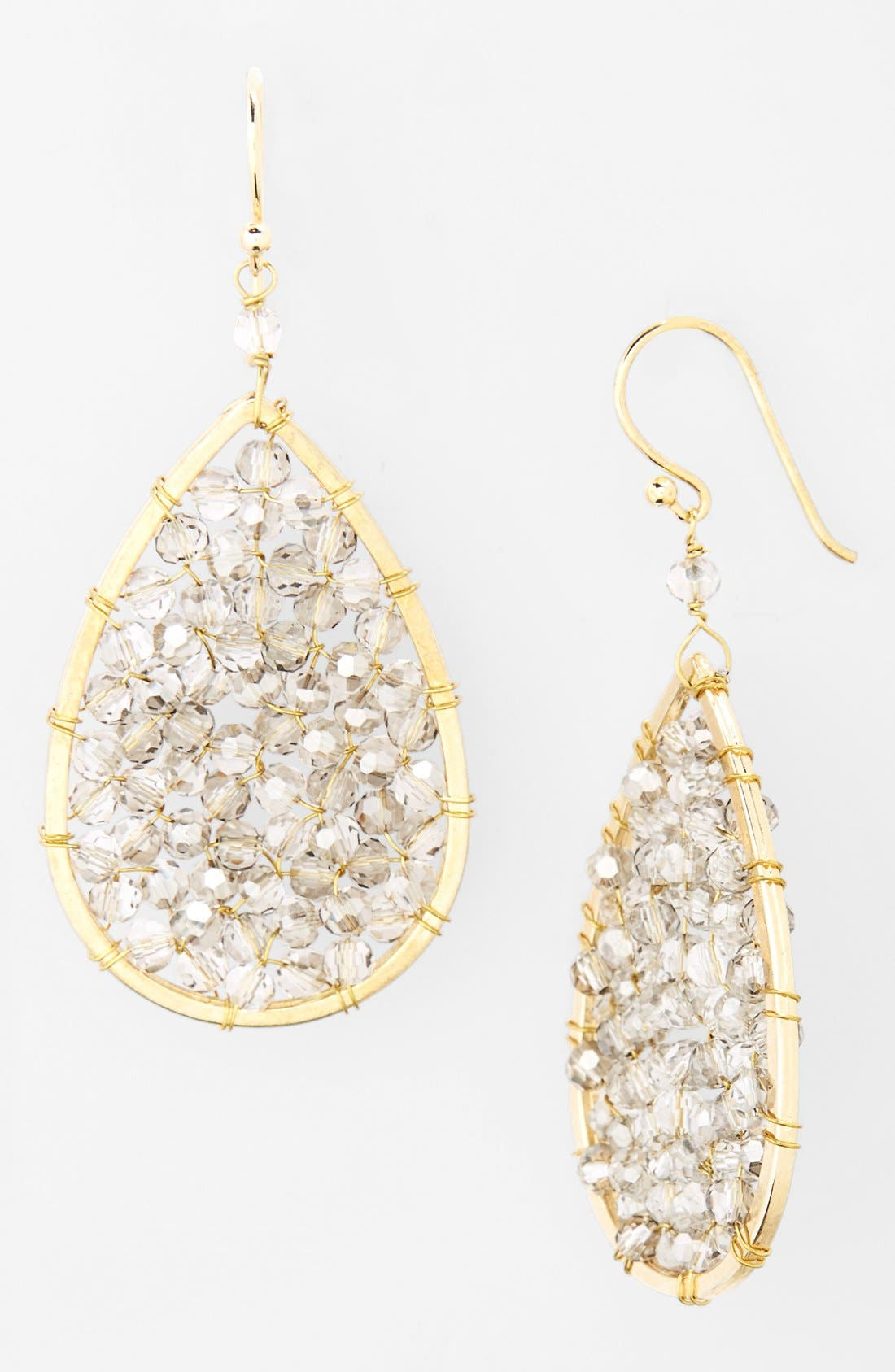 Main Image - Panacea Smoky Crystal Teardrop Earrings