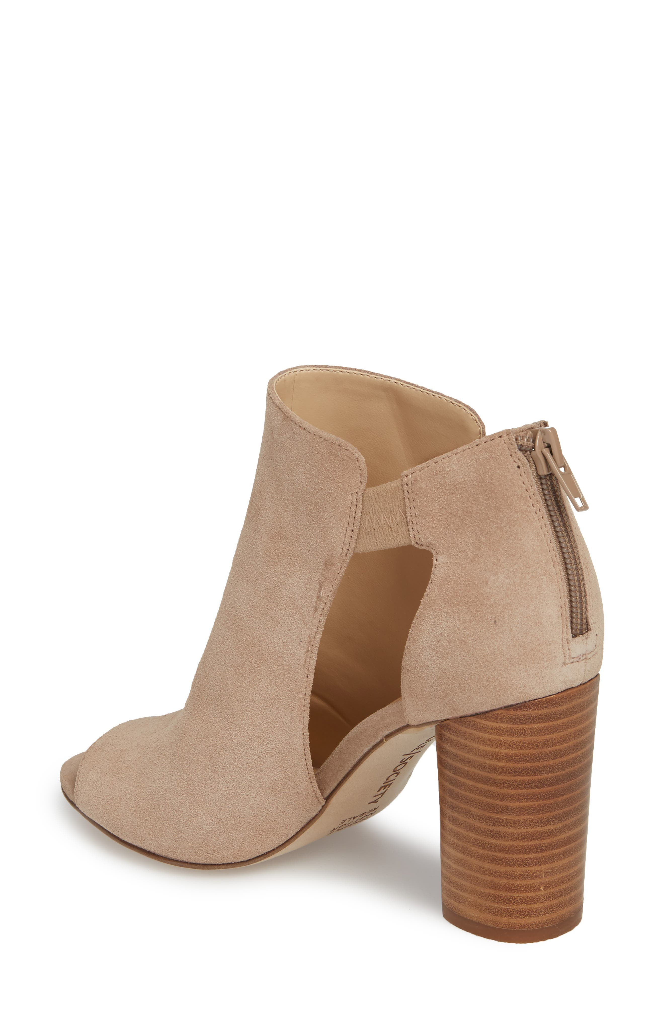 Sally Column Heel Sandal,                             Alternate thumbnail 2, color,                             Warm Taupe Cow Suede