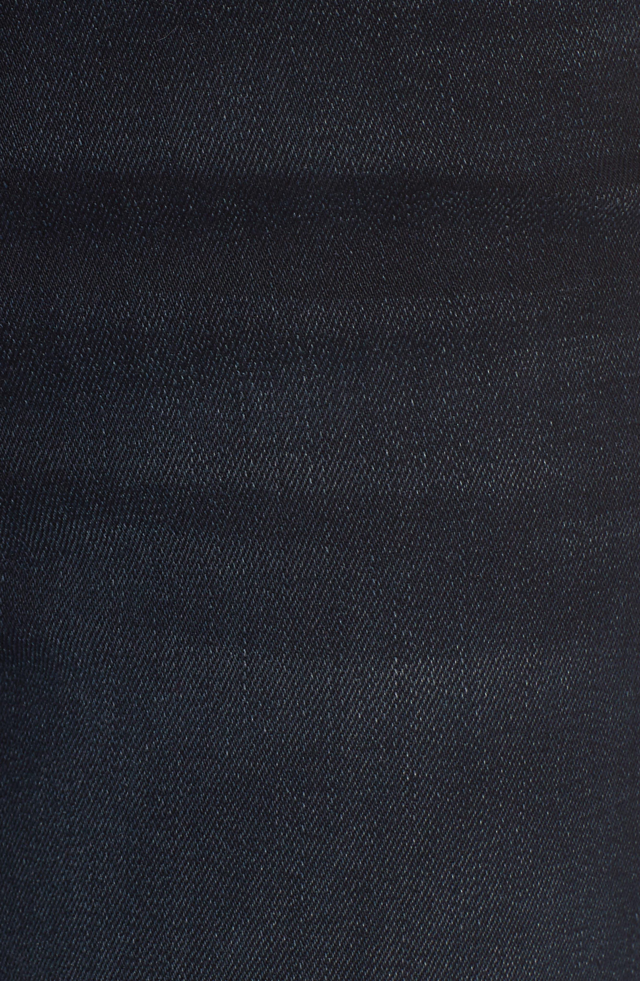 The Stunner High Waist Fray Ankle Skinny Jeans,                             Alternate thumbnail 6, color,                             Last Call