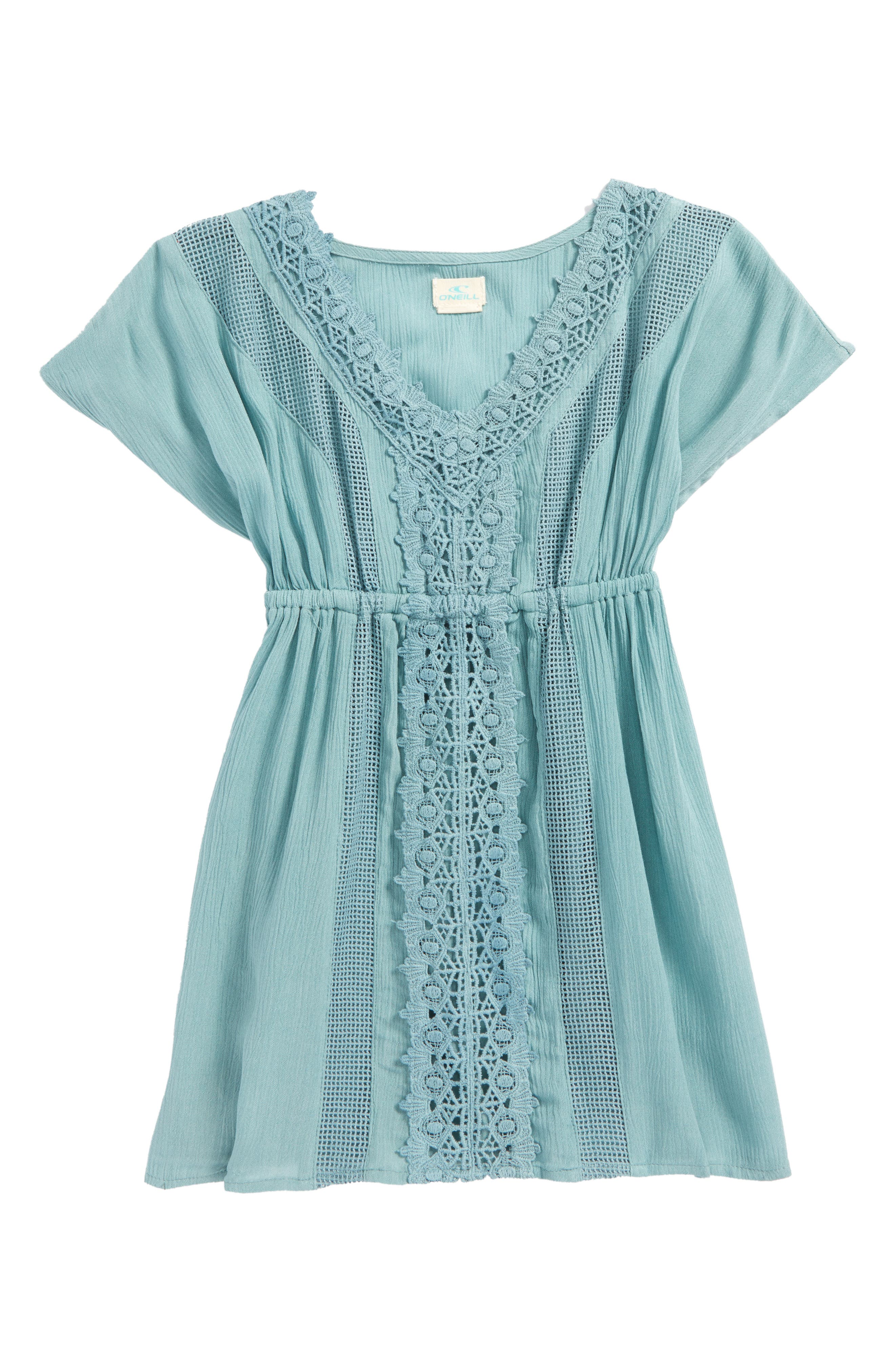 Kira Cover-Up Dress,                         Main,                         color, Aqua Haze