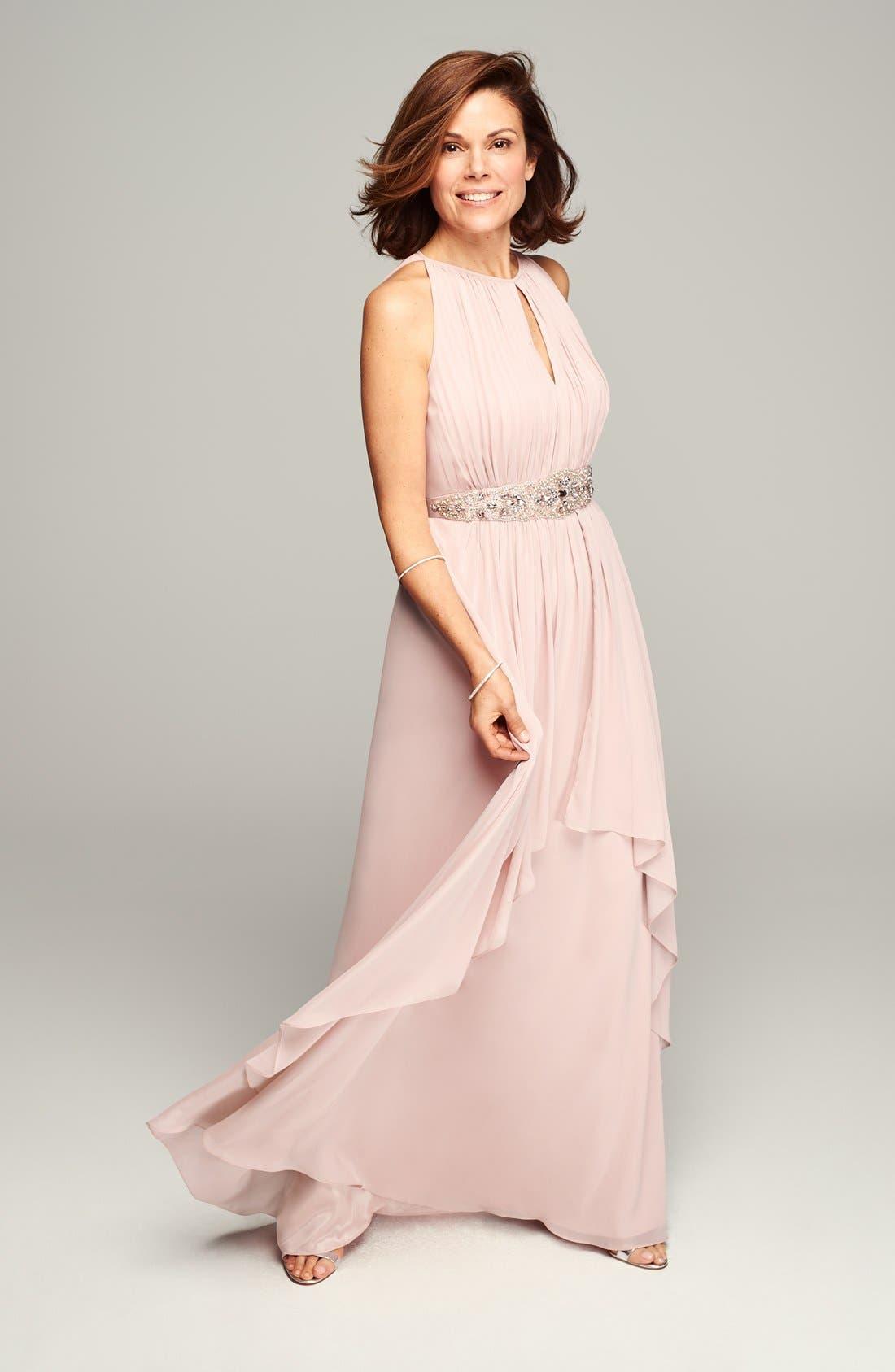 Alternate Image 4  - Eliza J Embellished Chiffon Gown (Petite)
