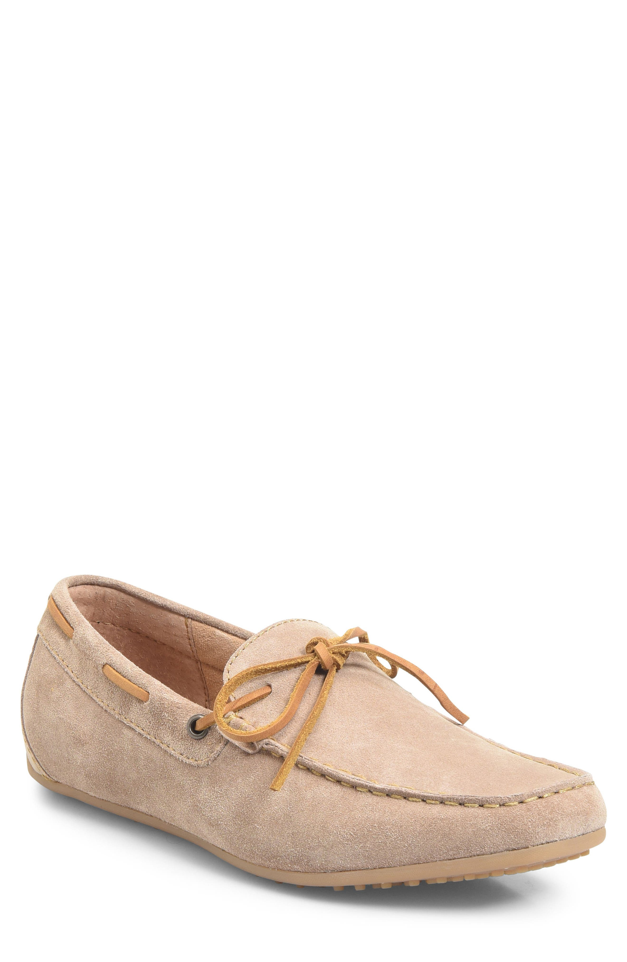 Virgo Driving Shoe,                             Main thumbnail 1, color,                             Taupe Suede