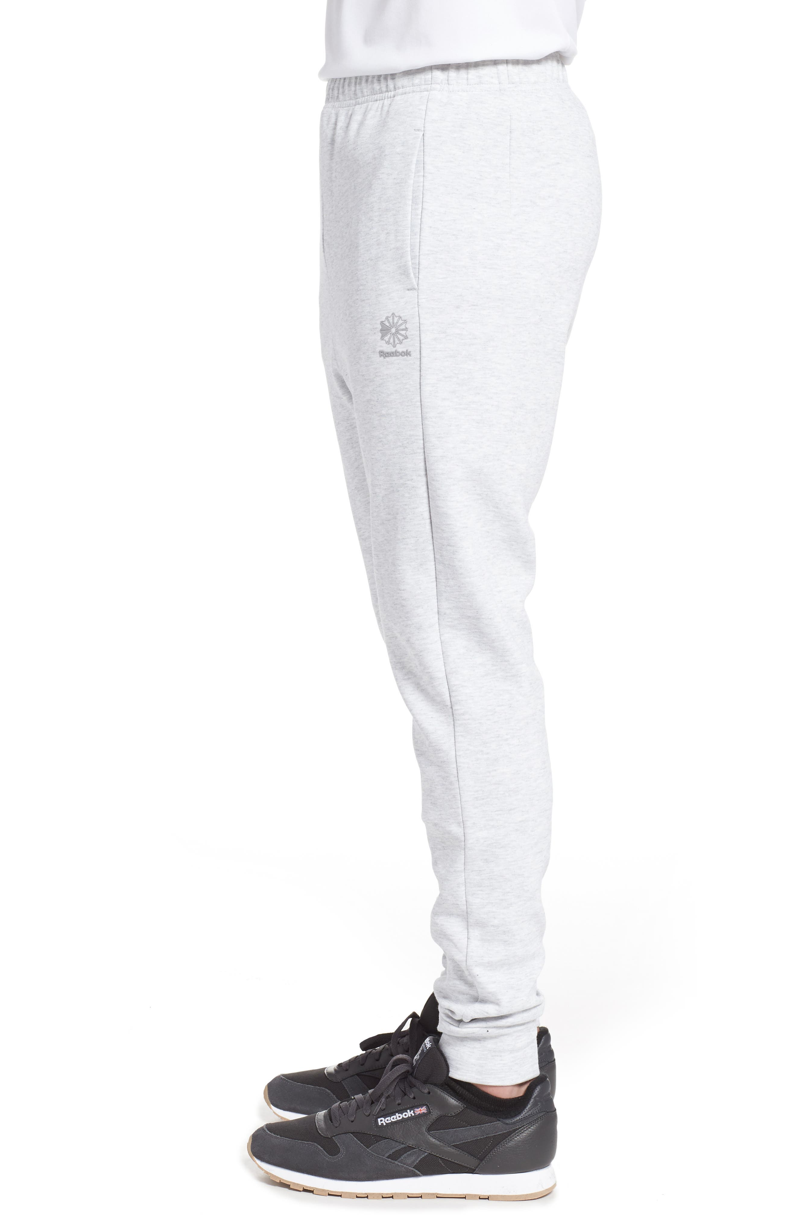 Classic Dynamic Knit Jogger Pants,                             Alternate thumbnail 3, color,                             Light Grey Heather
