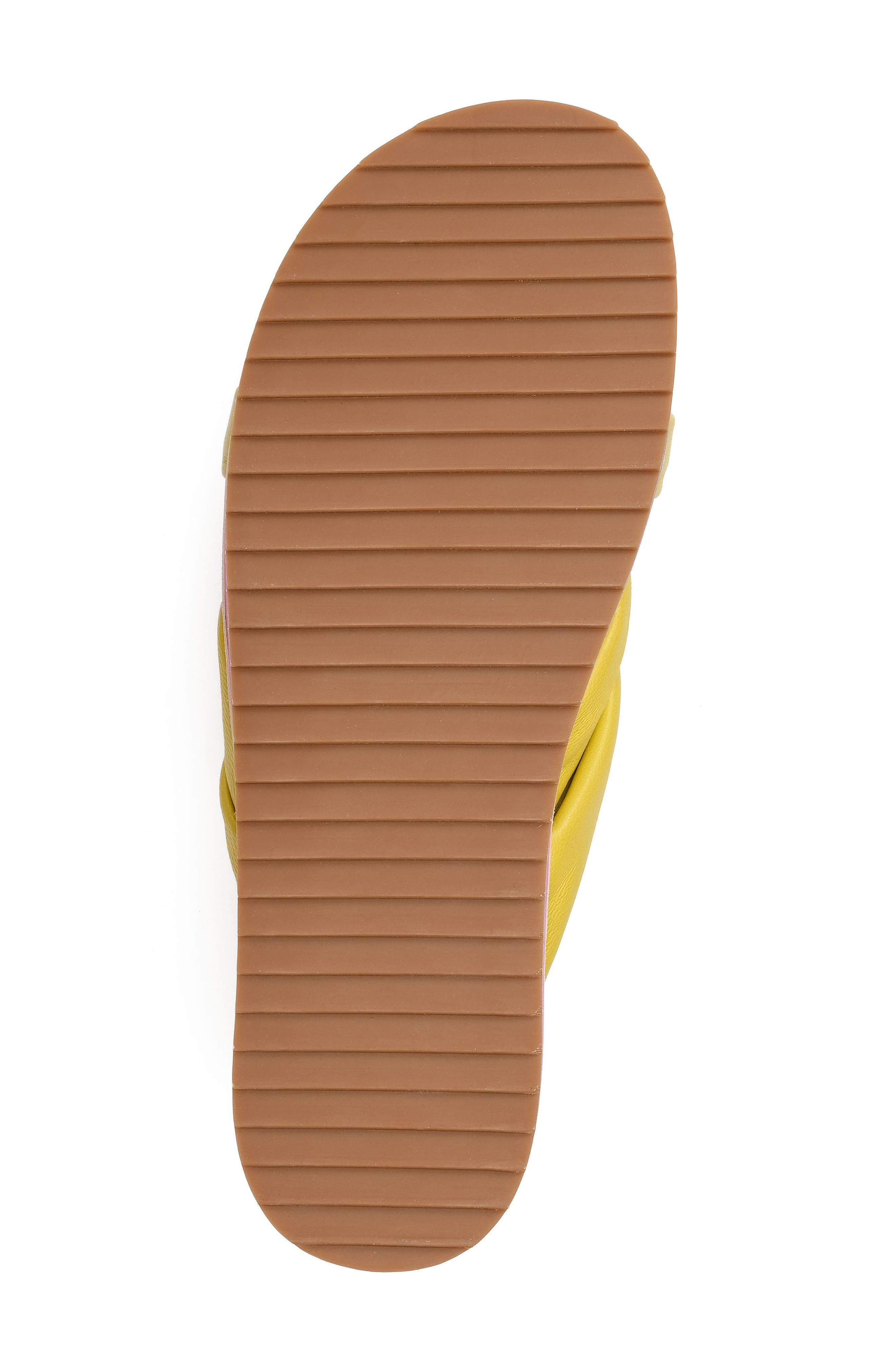 Padget Knotted Slide Sandal,                             Alternate thumbnail 5, color,                             Yellow