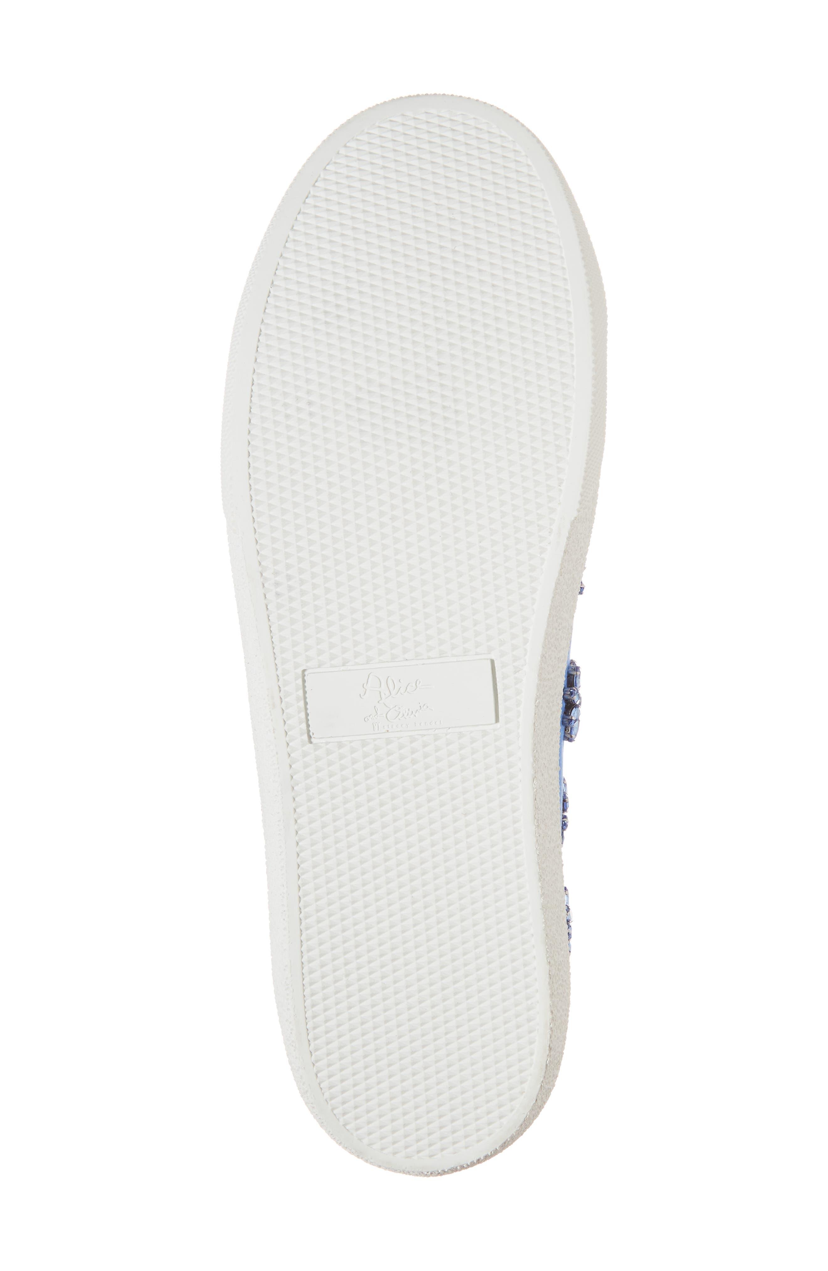 Cleo Crystal Embellished Sneaker,                             Alternate thumbnail 6, color,                             Cerulean
