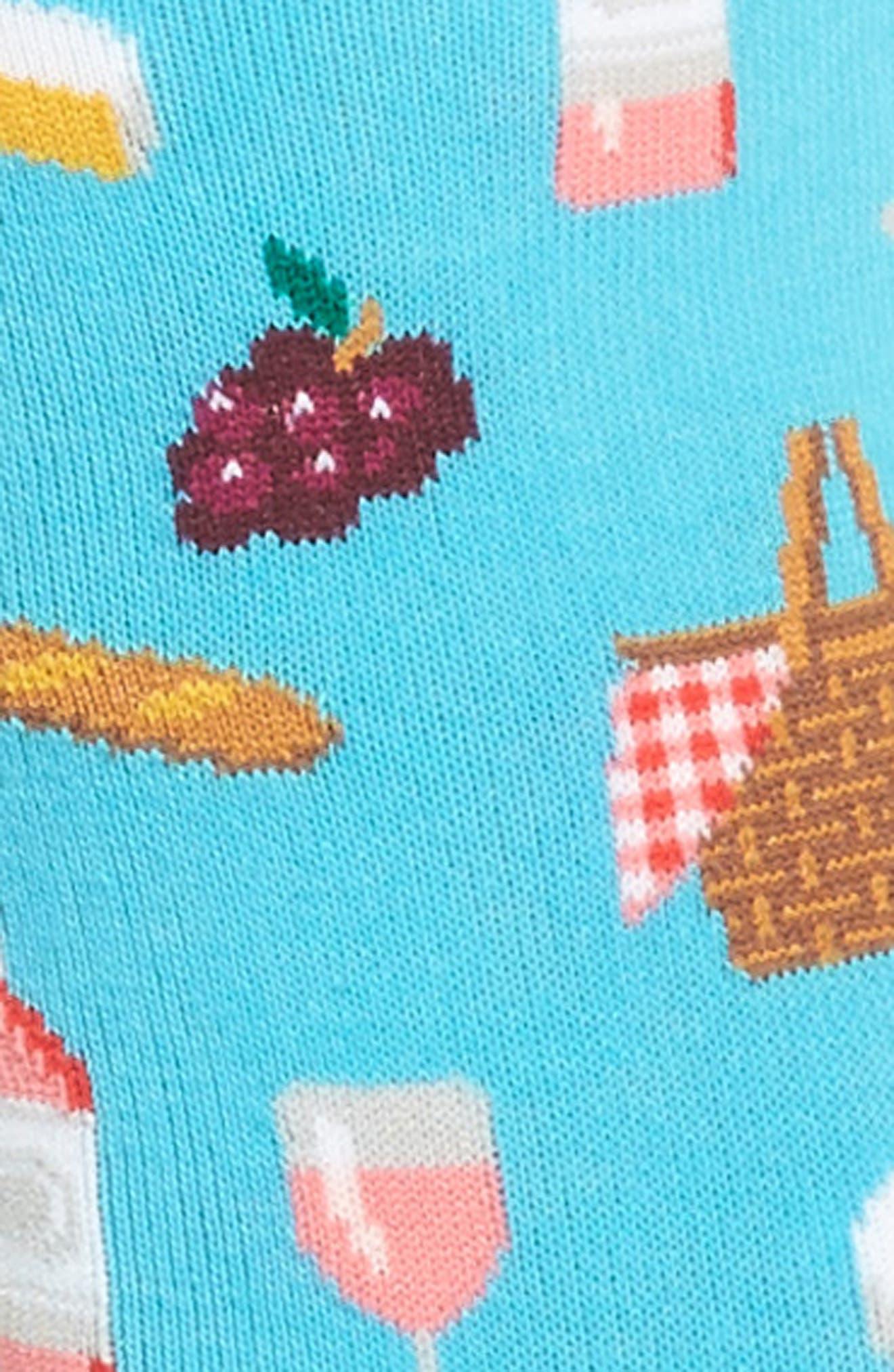 Picnic Crew Socks,                             Alternate thumbnail 2, color,                             Light Blue