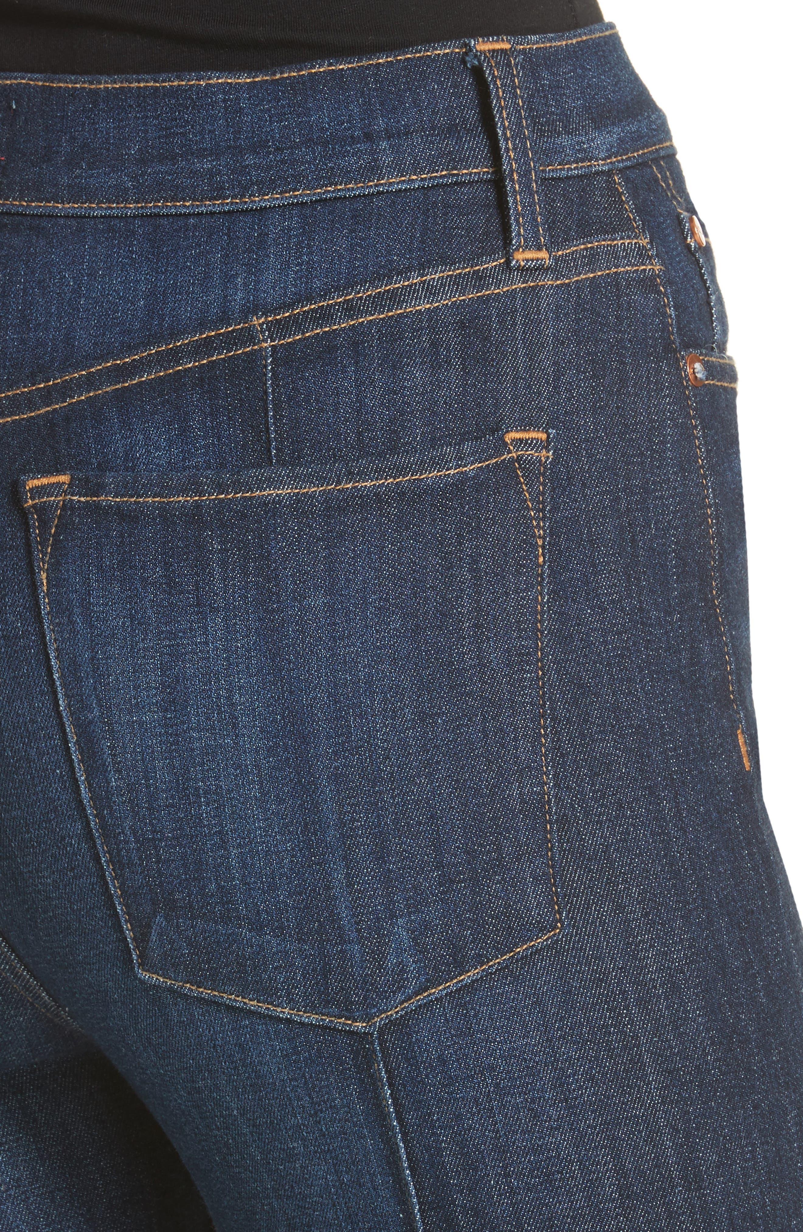 AO.LA Good High Waist Pintuck Skinny Jeans,                             Alternate thumbnail 4, color,                             Dream On