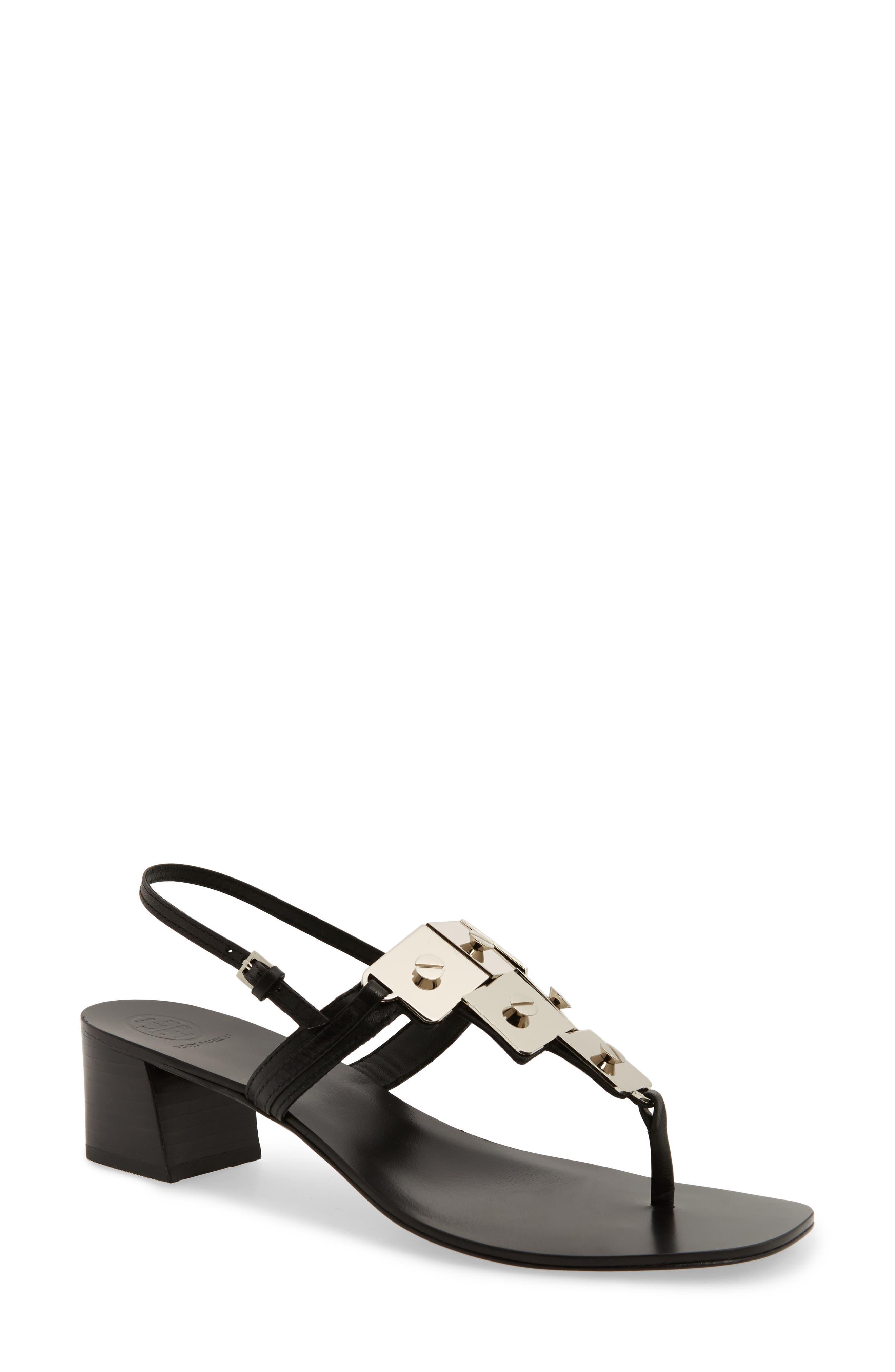 Thompson Sandal,                         Main,                         color, Perfect Black