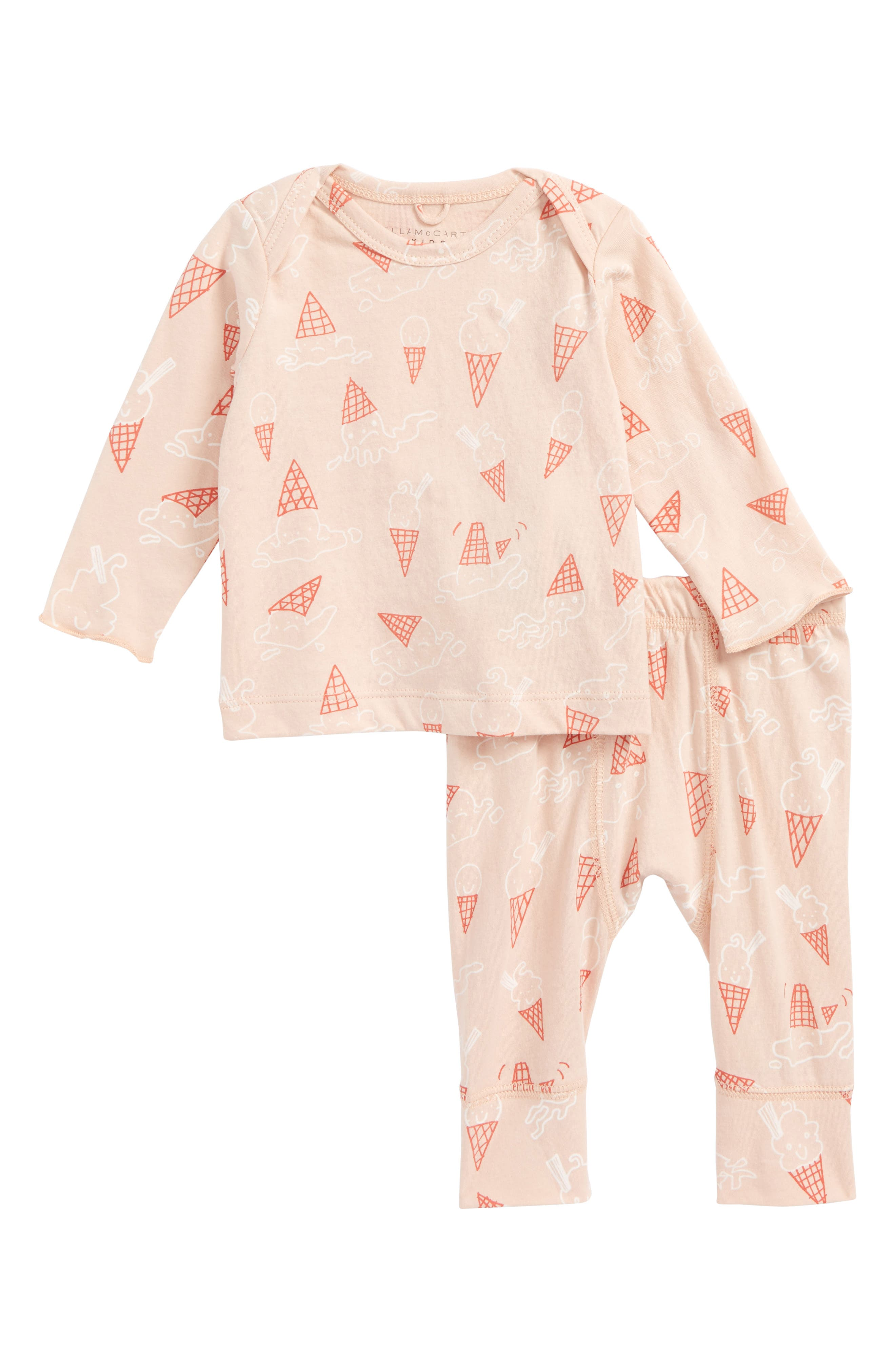 Buster & Macy Ice Cream Top & Pants Set,                             Main thumbnail 1, color,                             Baby Ice Cream Print