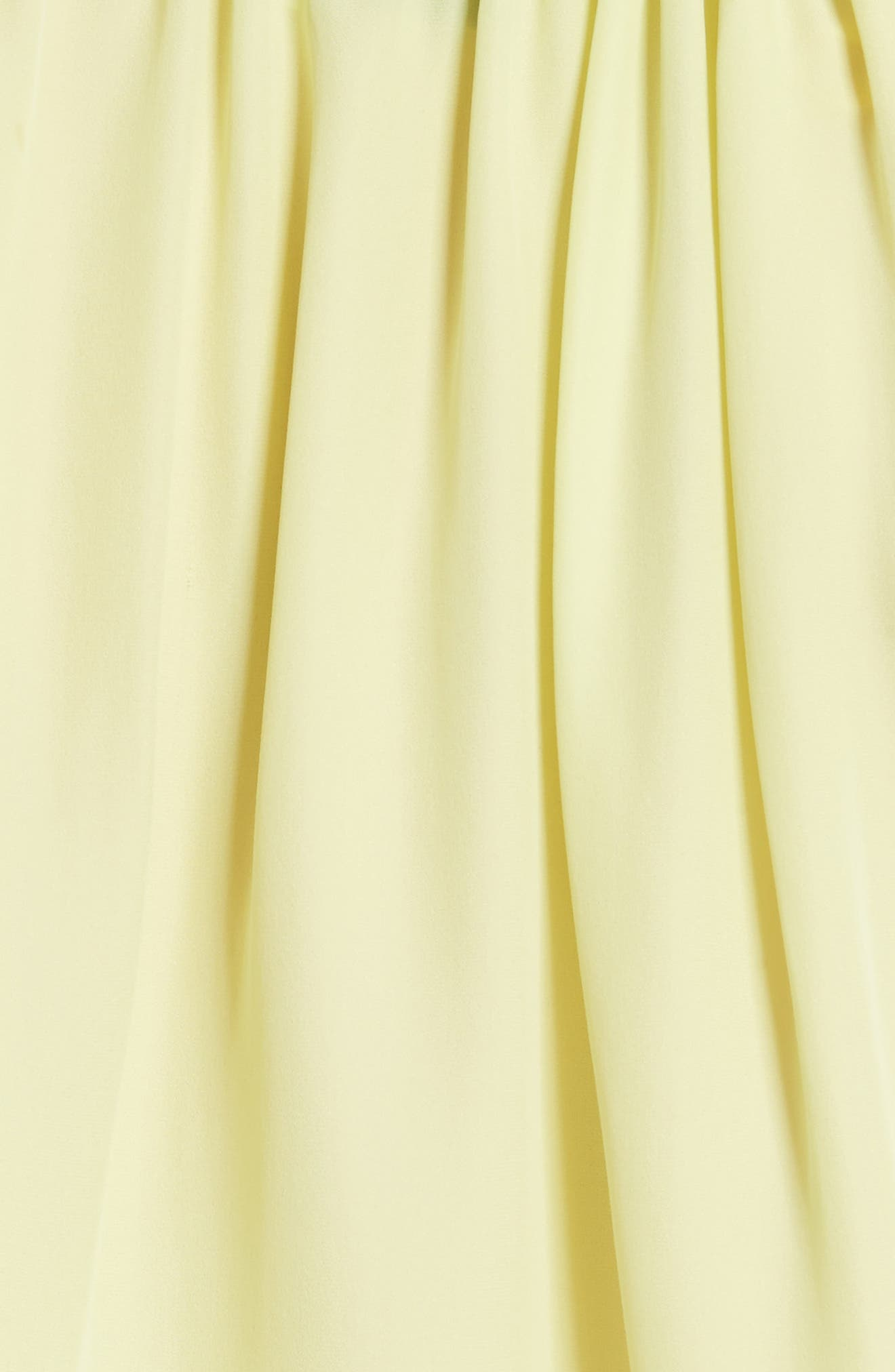 Santorini Ruffle Mini Dress,                             Alternate thumbnail 5, color,                             Lemon Yellow