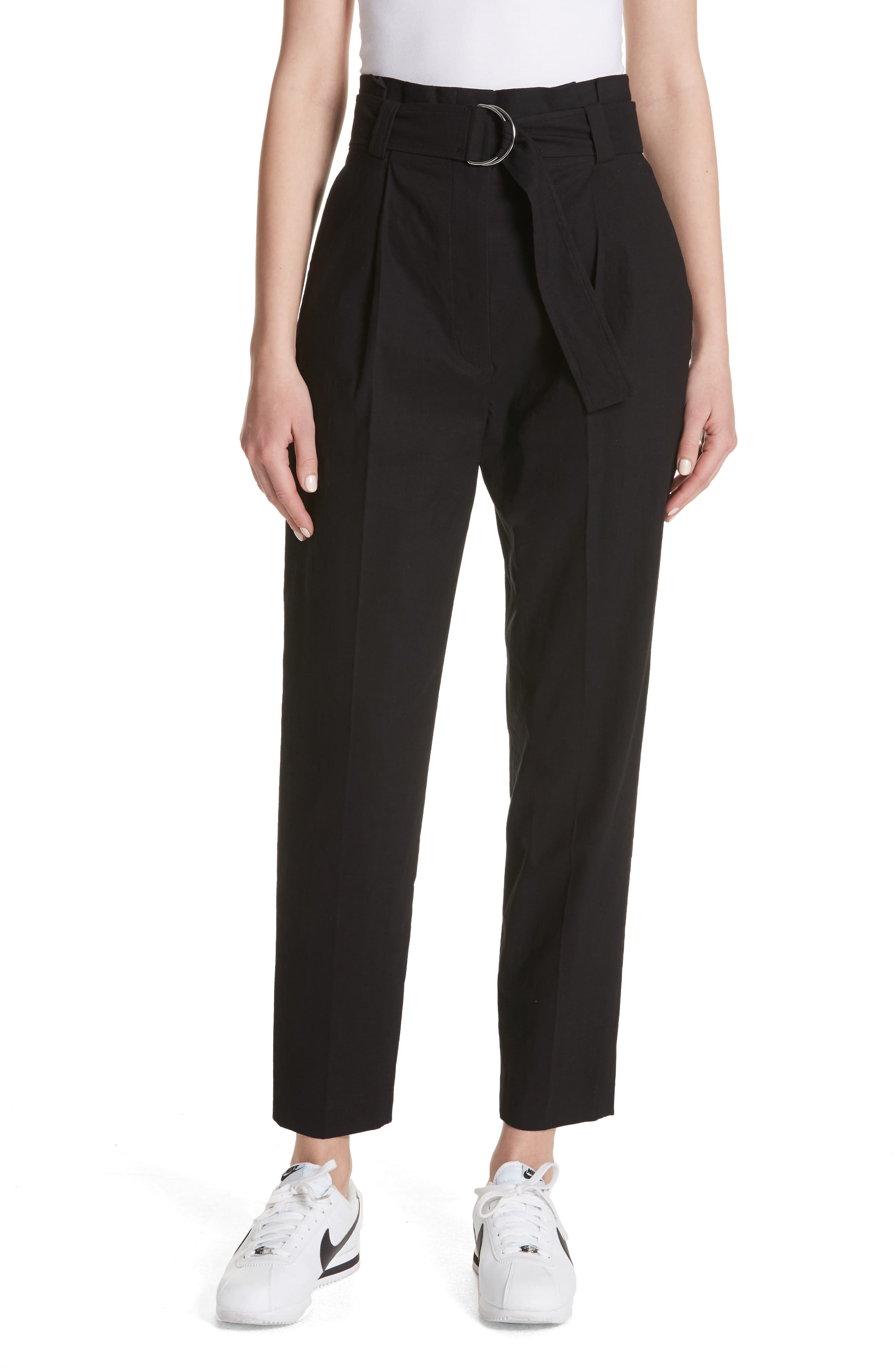 Diego High Waist Pants,                         Main,                         color, Black