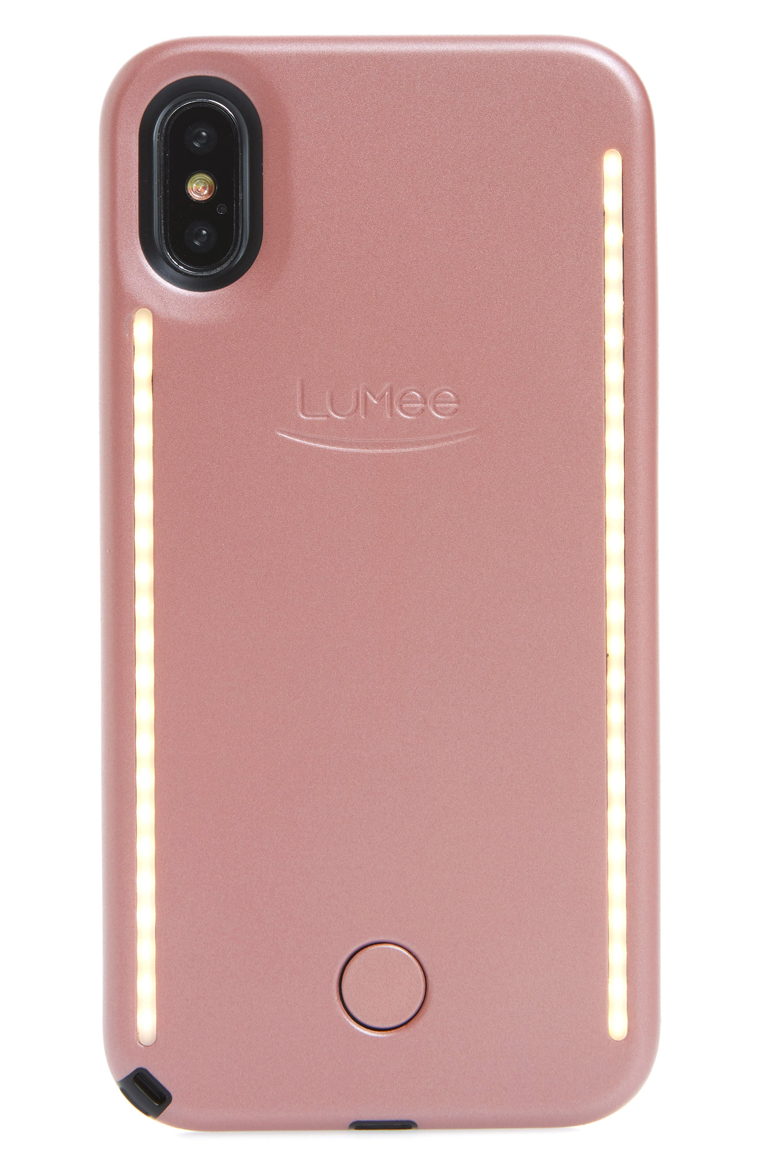 LED Lighted iPhone X & Xs Case,                             Main thumbnail 1, color,                             Rose