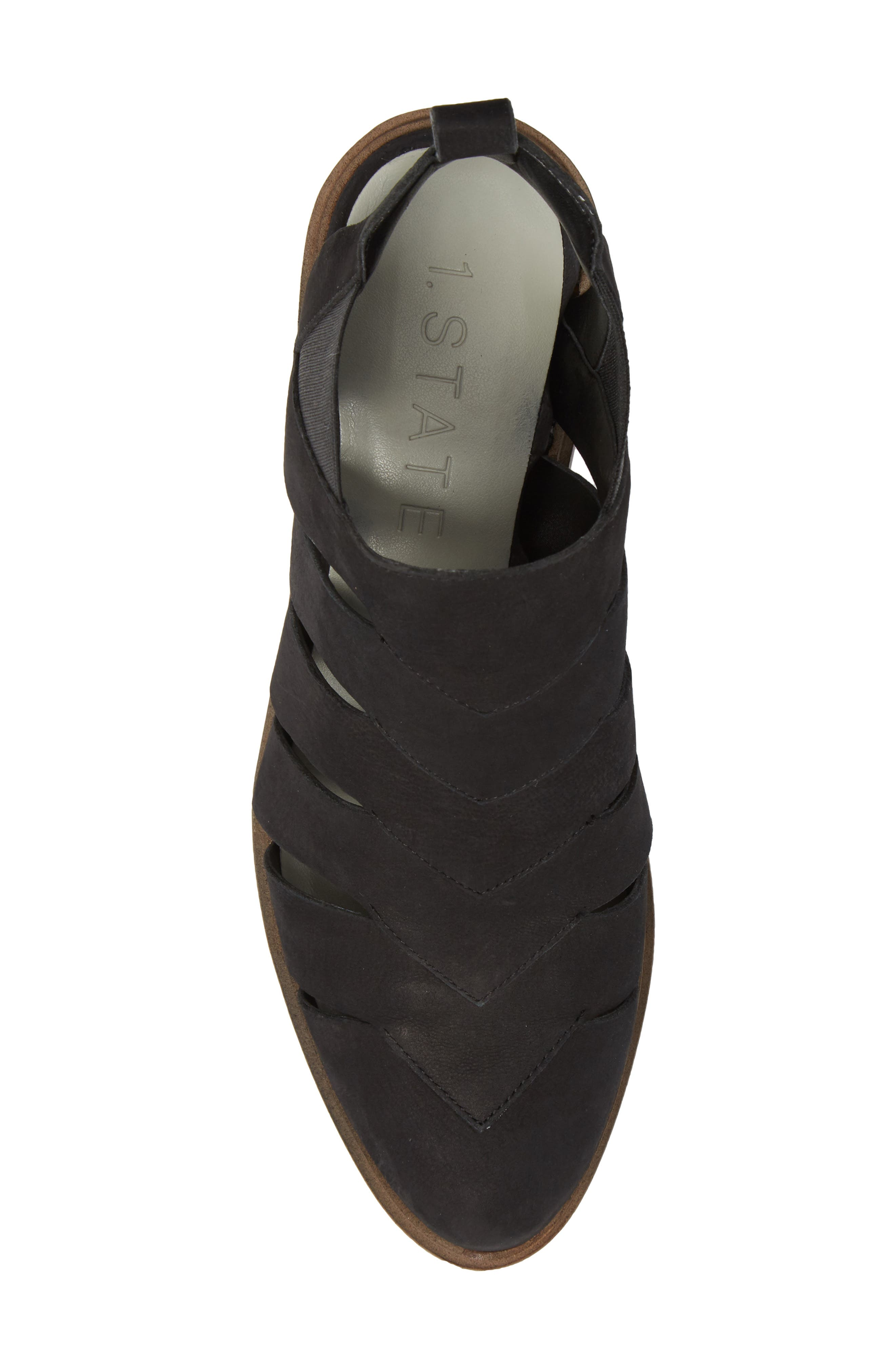 Amilee Bootie,                             Alternate thumbnail 5, color,                             Black Nubuck Leather