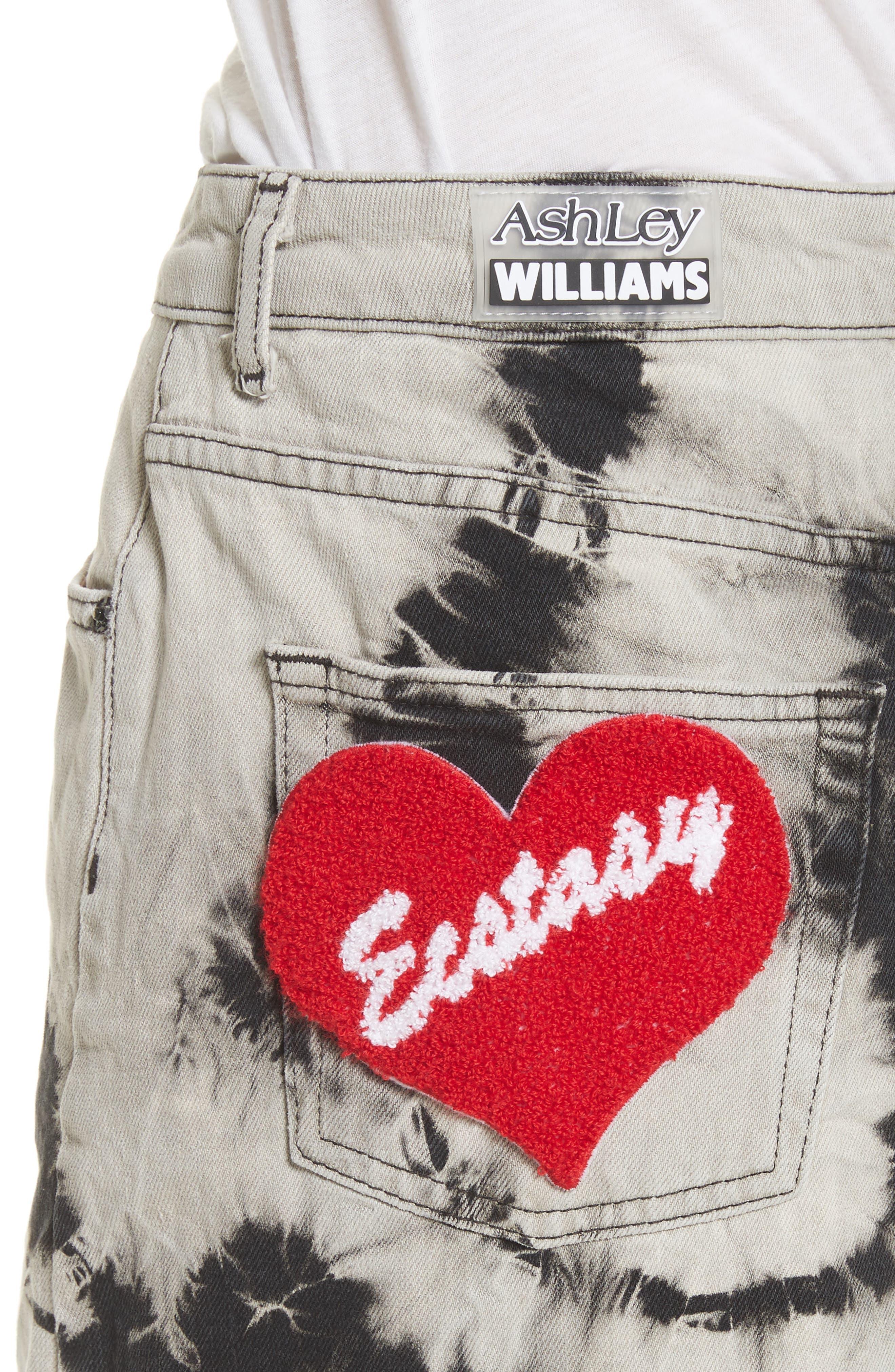 Alternate Image 4  - Ashley Williams Stephanie Tie Dye Denim Miniskirt