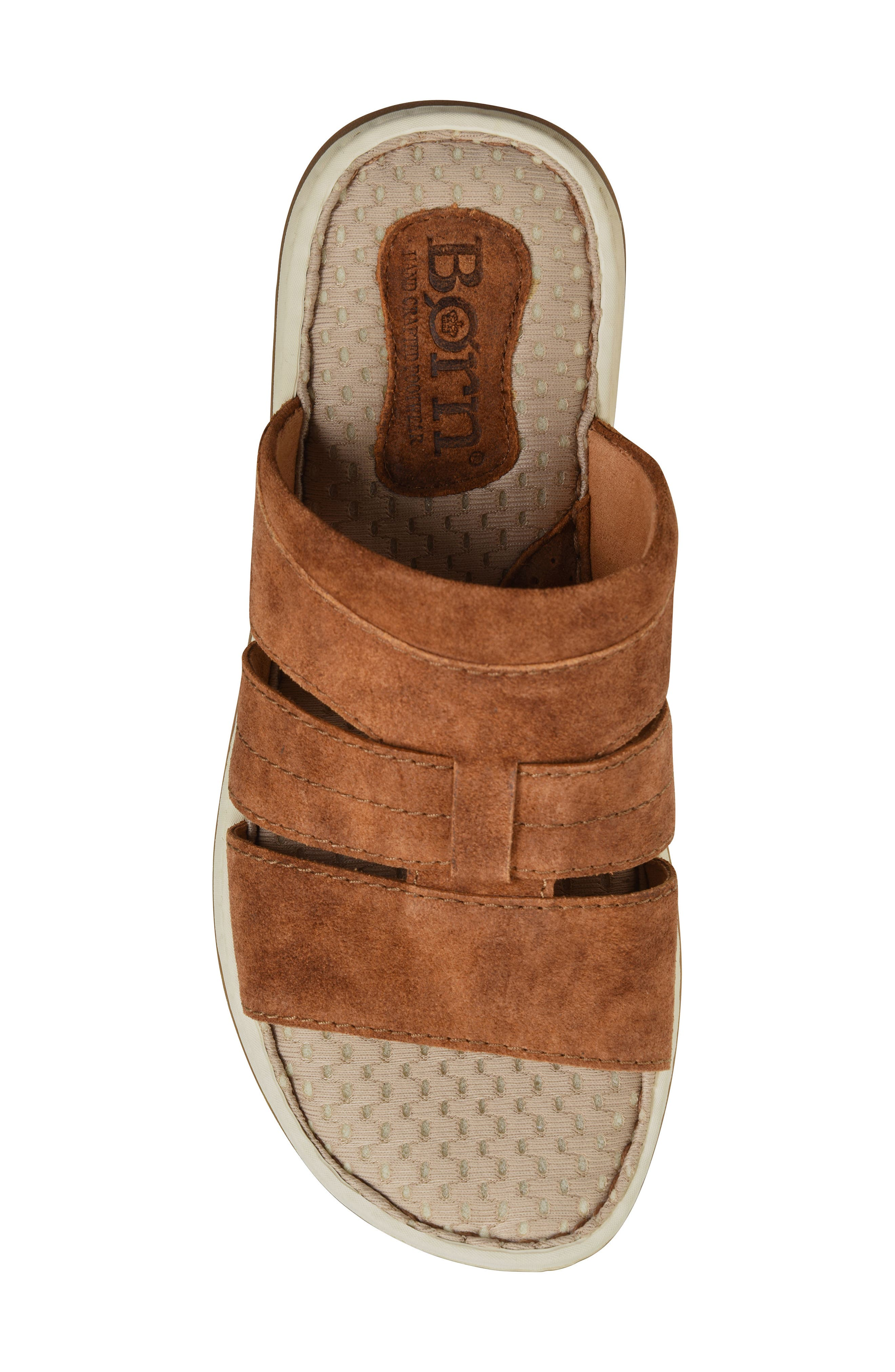 Sail Slide Sandal,                             Alternate thumbnail 5, color,                             Rust Leather