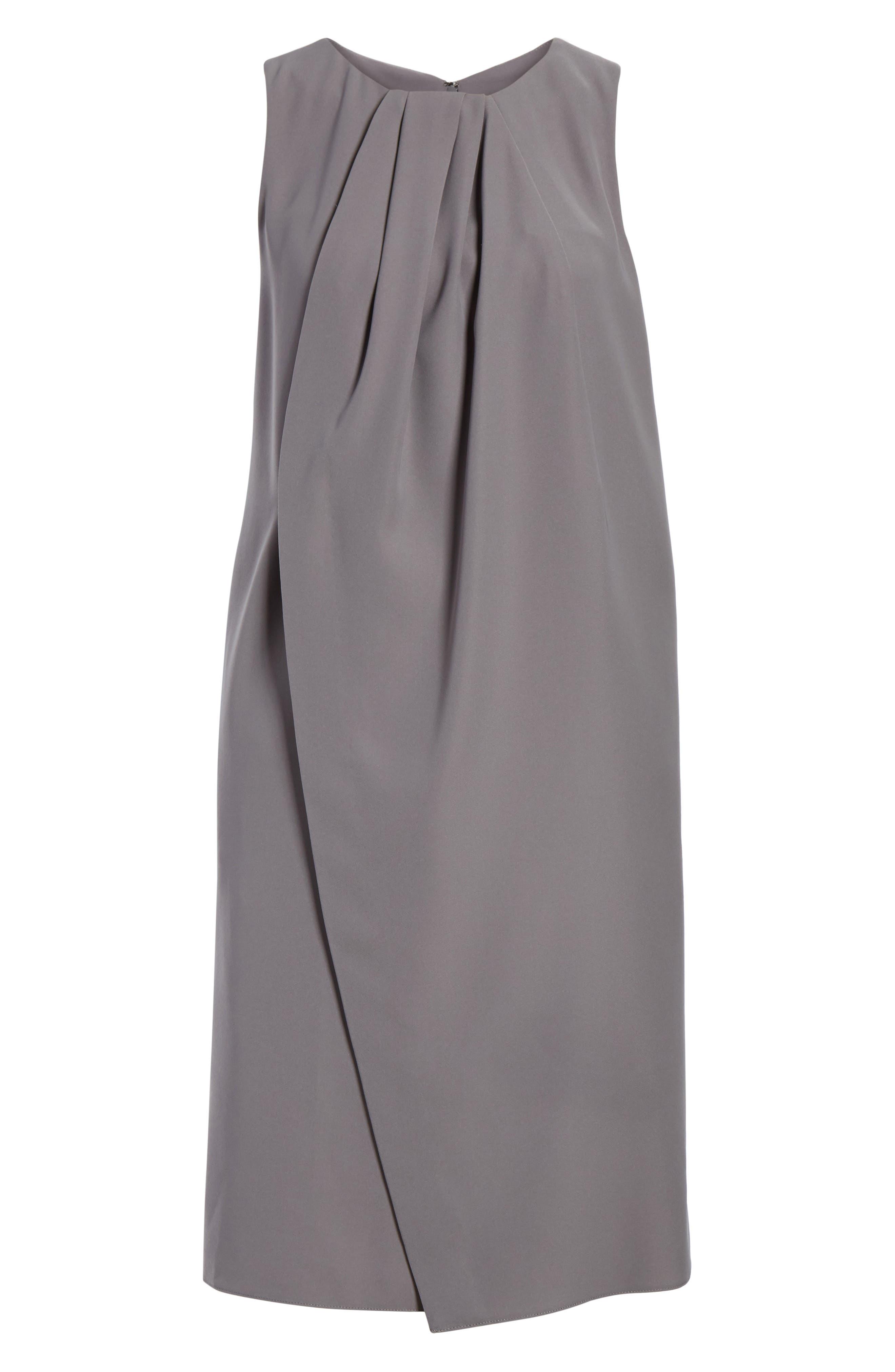 Draped Cady Shift Dress,                             Main thumbnail 1, color,                             Stone