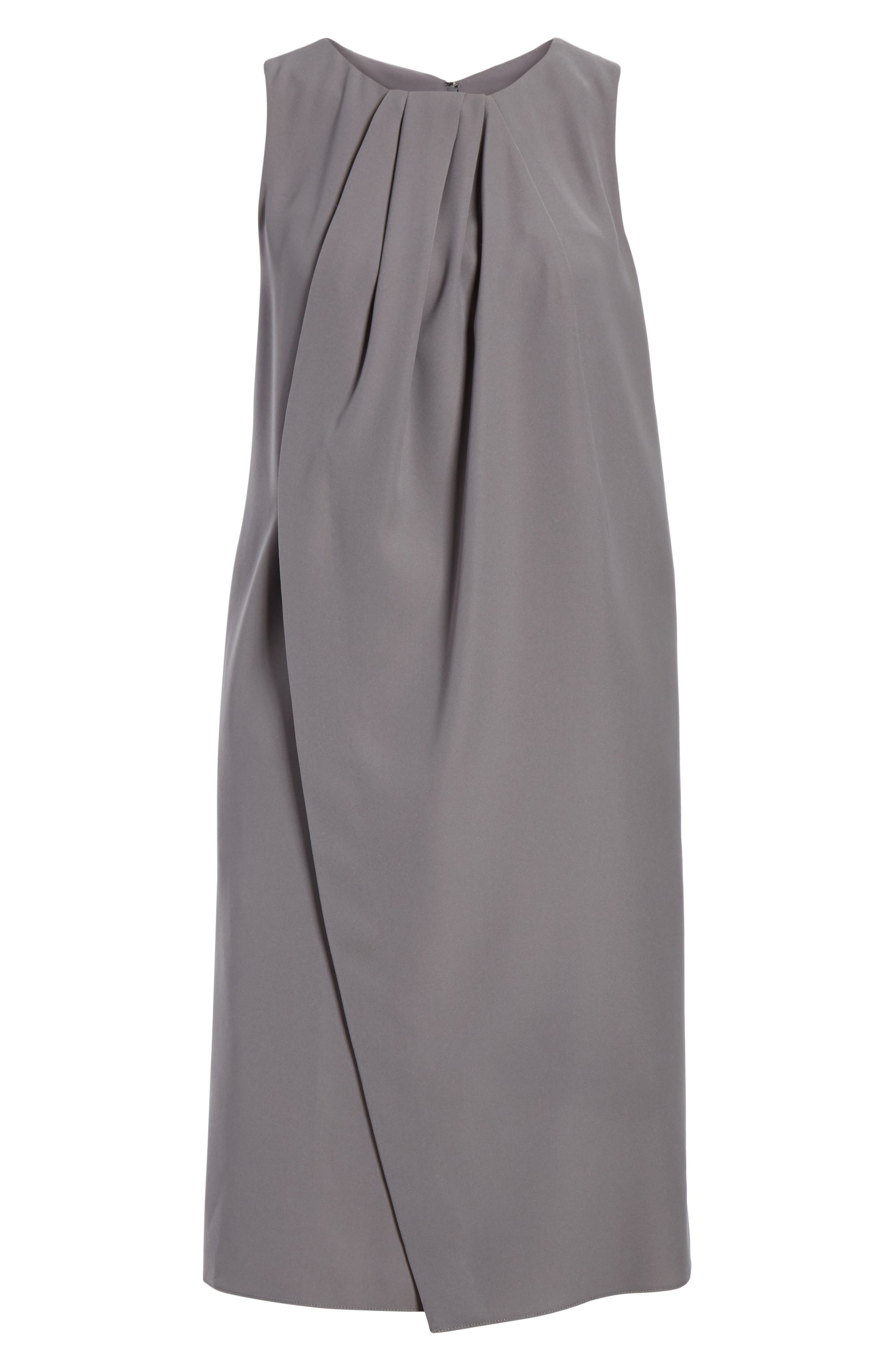 Draped Cady Shift Dress,                         Main,                         color, Stone