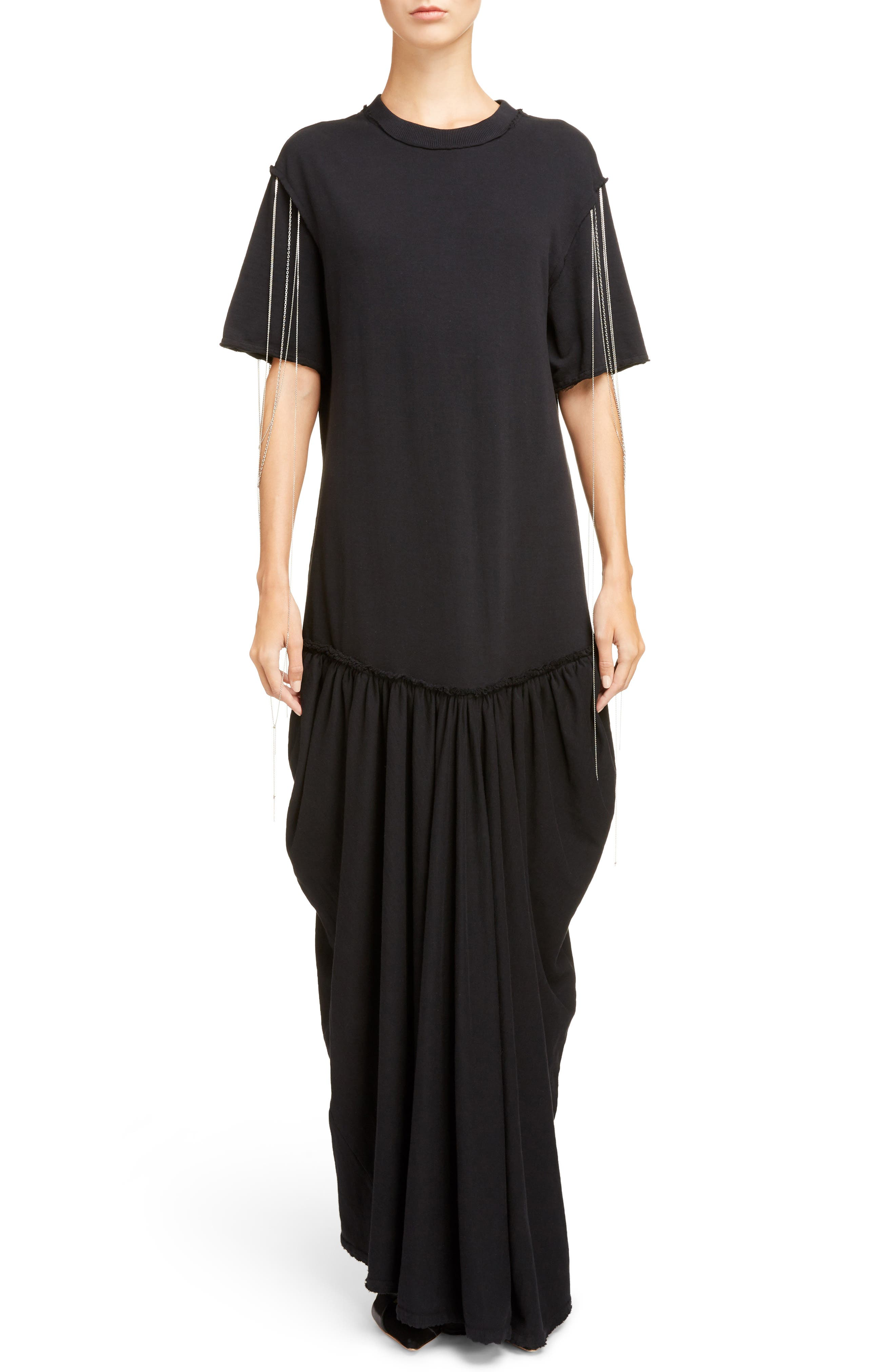 J.W.ANDERSON Chain Trim Jersey Maxi Dress