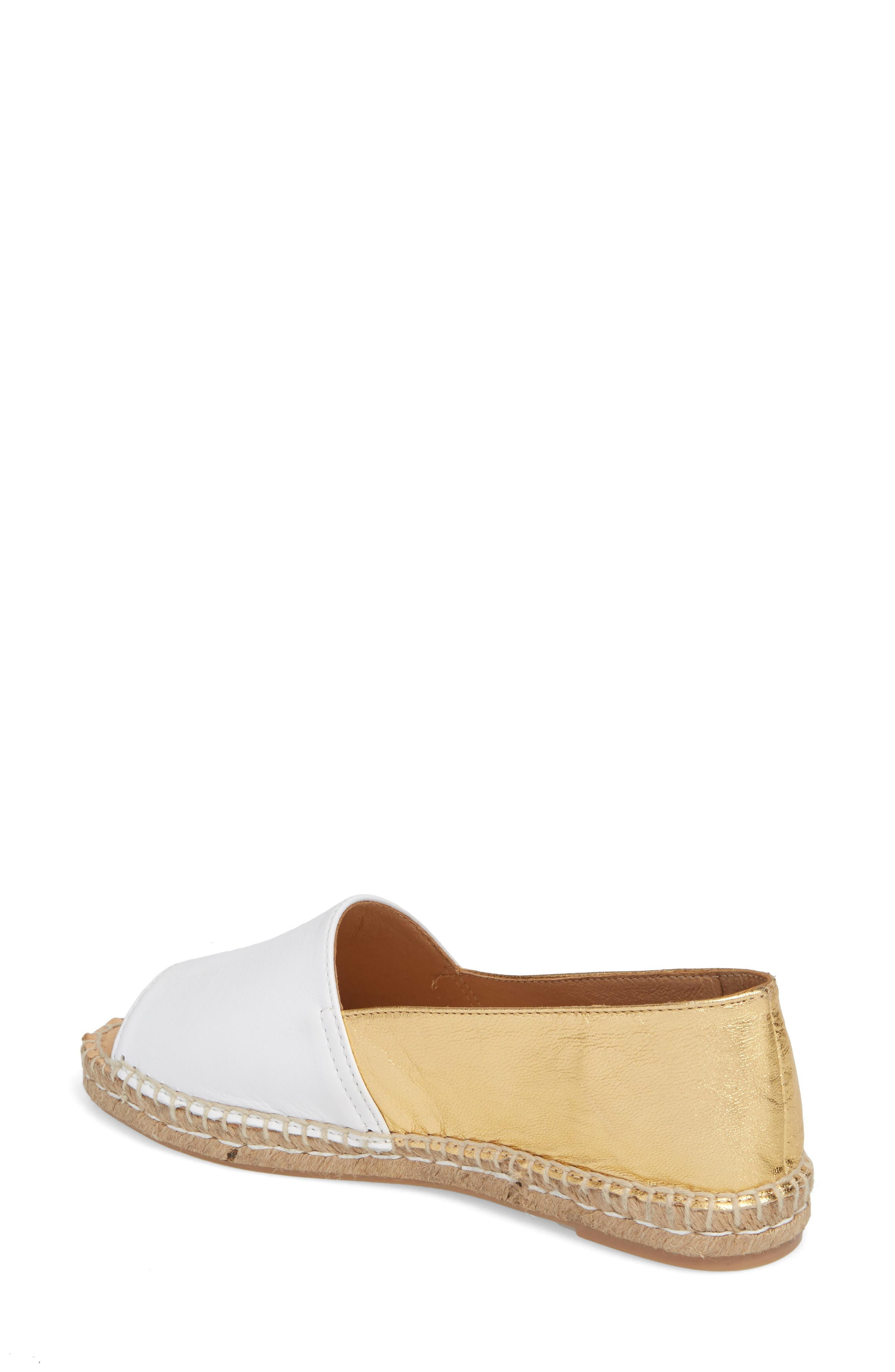 Milly Espadrille,                             Alternate thumbnail 2, color,                             Gold Leather
