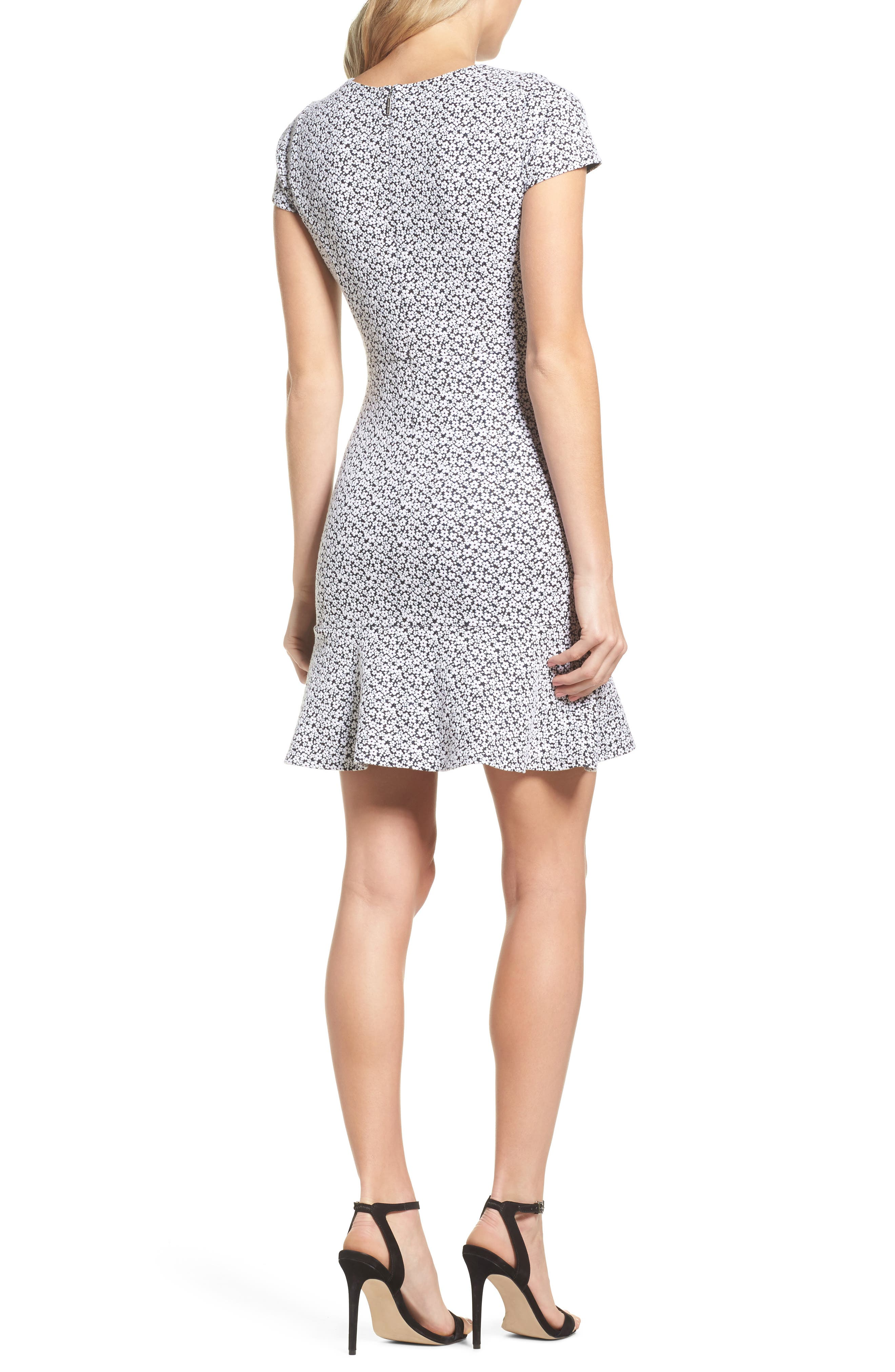 Alternate Image 2  - MICHAEL Michael Kors Floral Knit Jacquard Flounce Dress