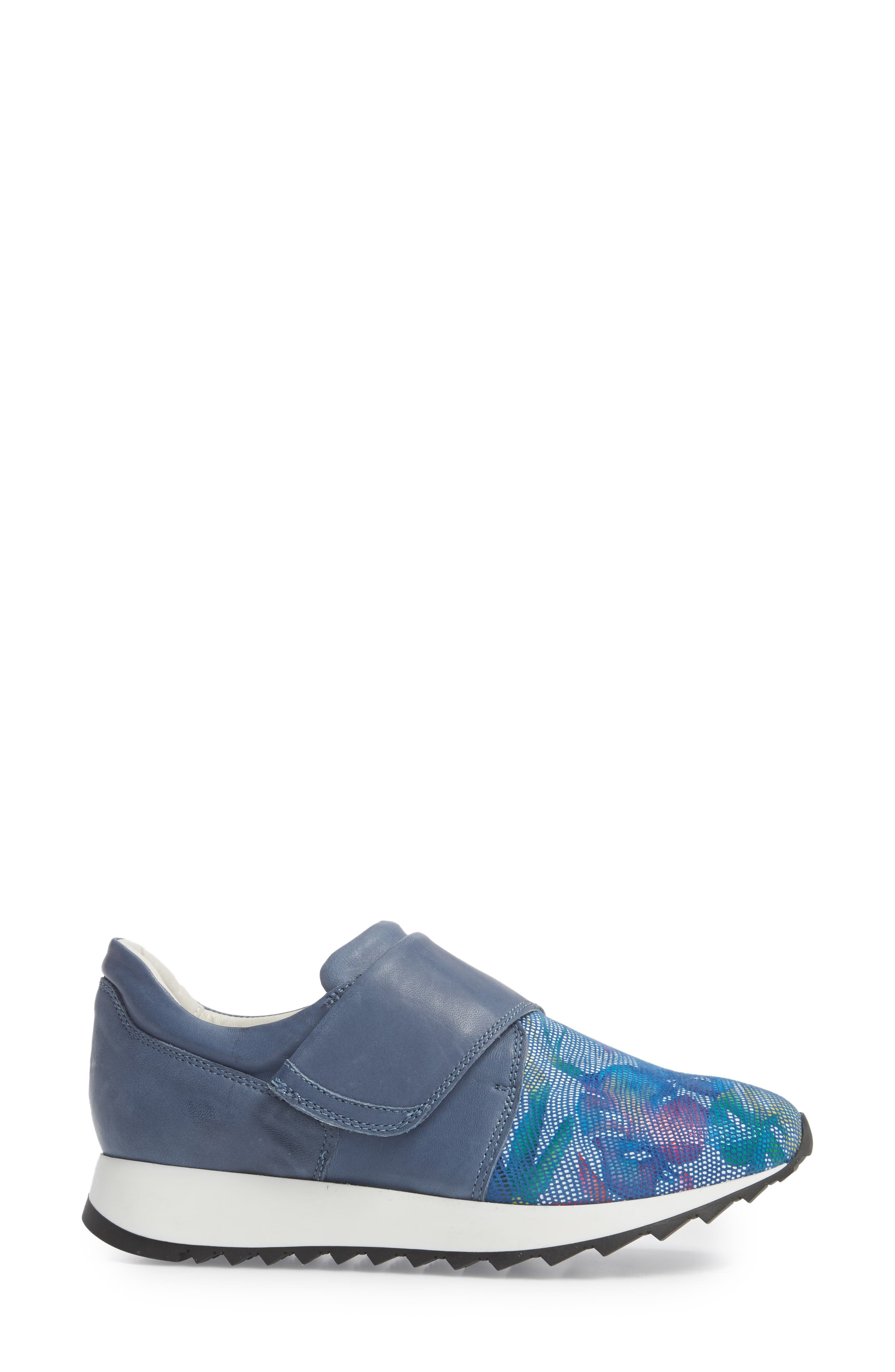 Danza Wedge Sneaker,                             Alternate thumbnail 3, color,                             Royal Leather