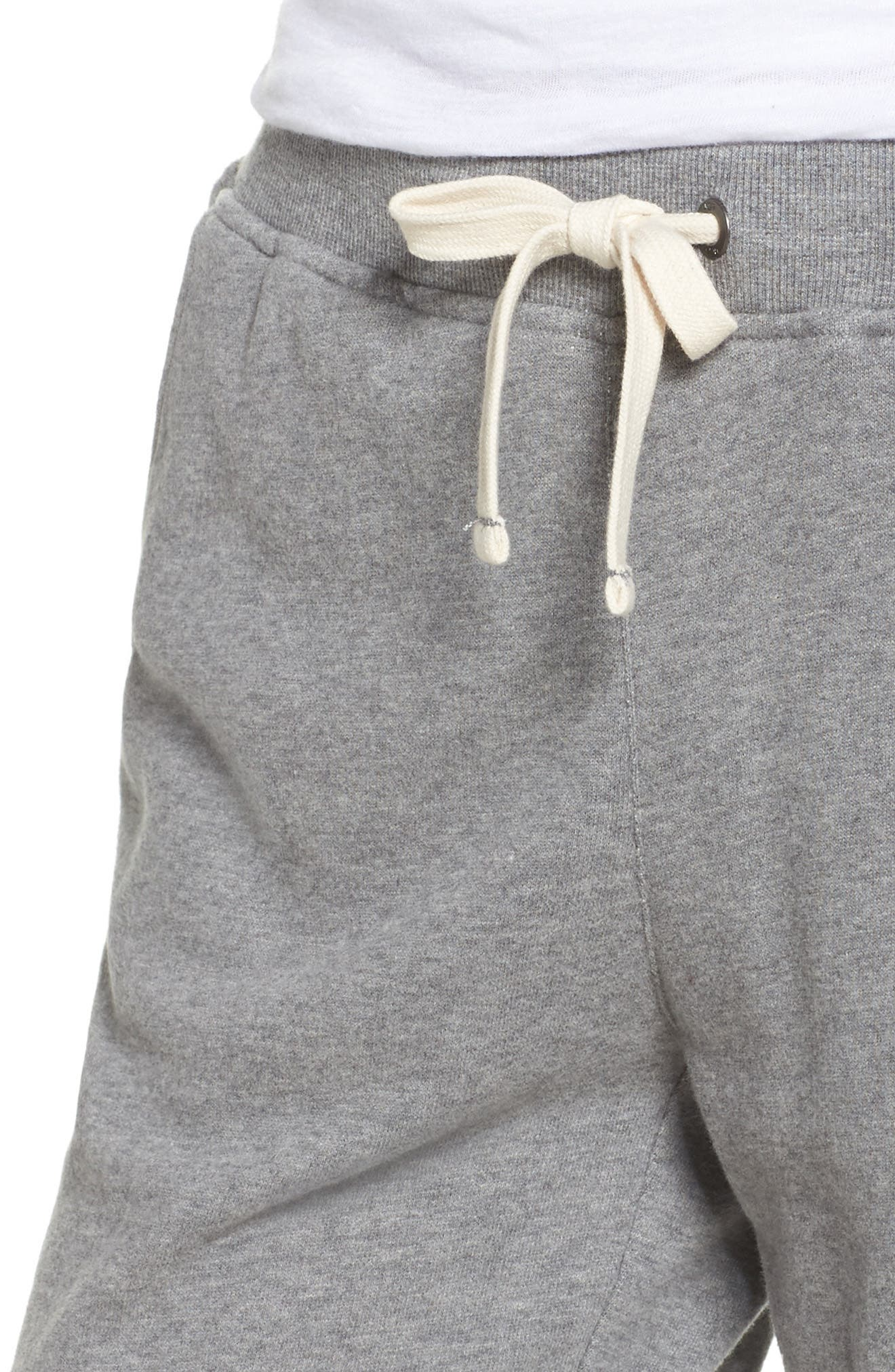 Babe Jogger Pants,                             Alternate thumbnail 6, color,                             Heather Grey