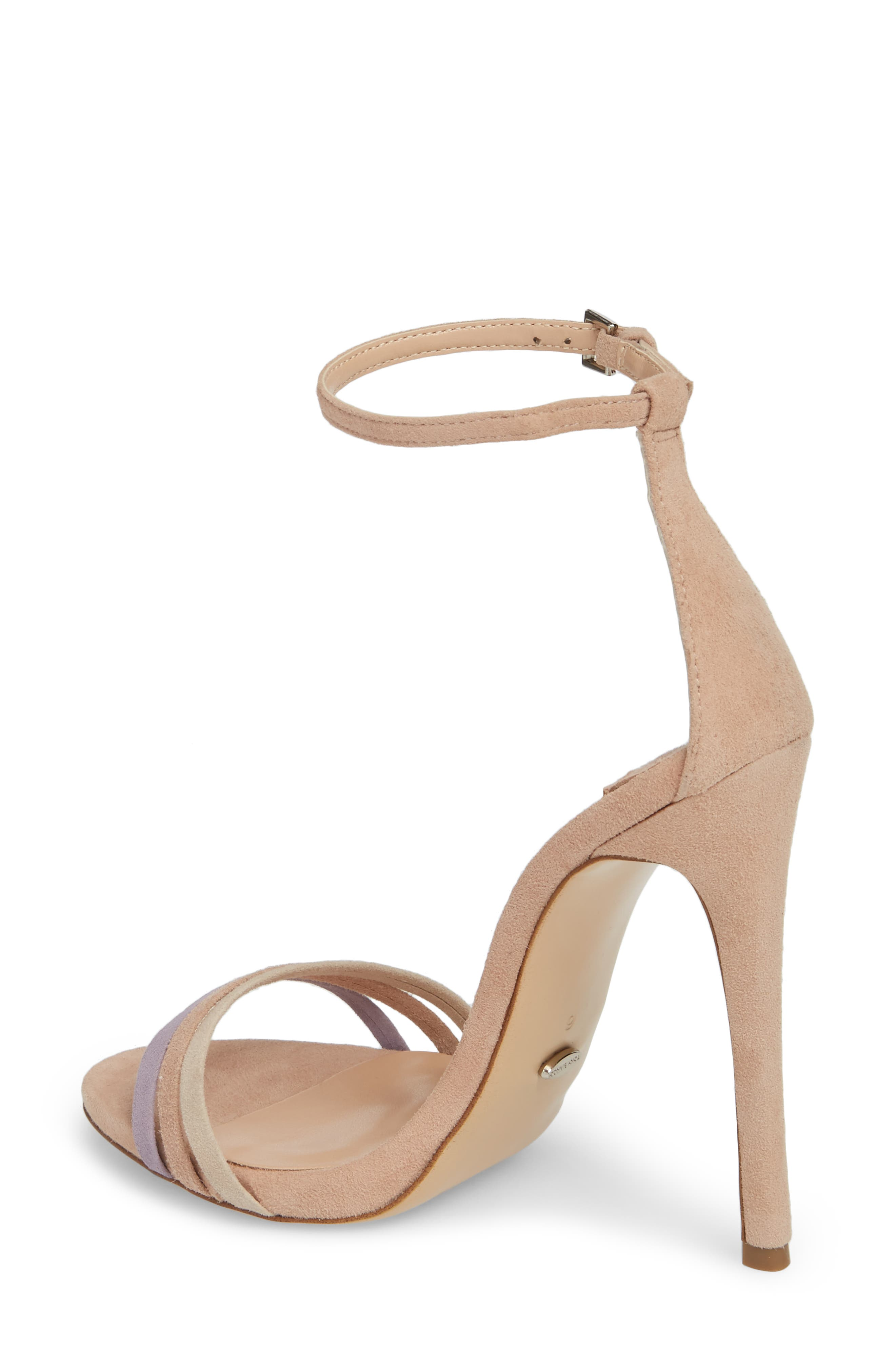 Aroma Strappy Sandal,                             Alternate thumbnail 2, color,                             Blush Suede