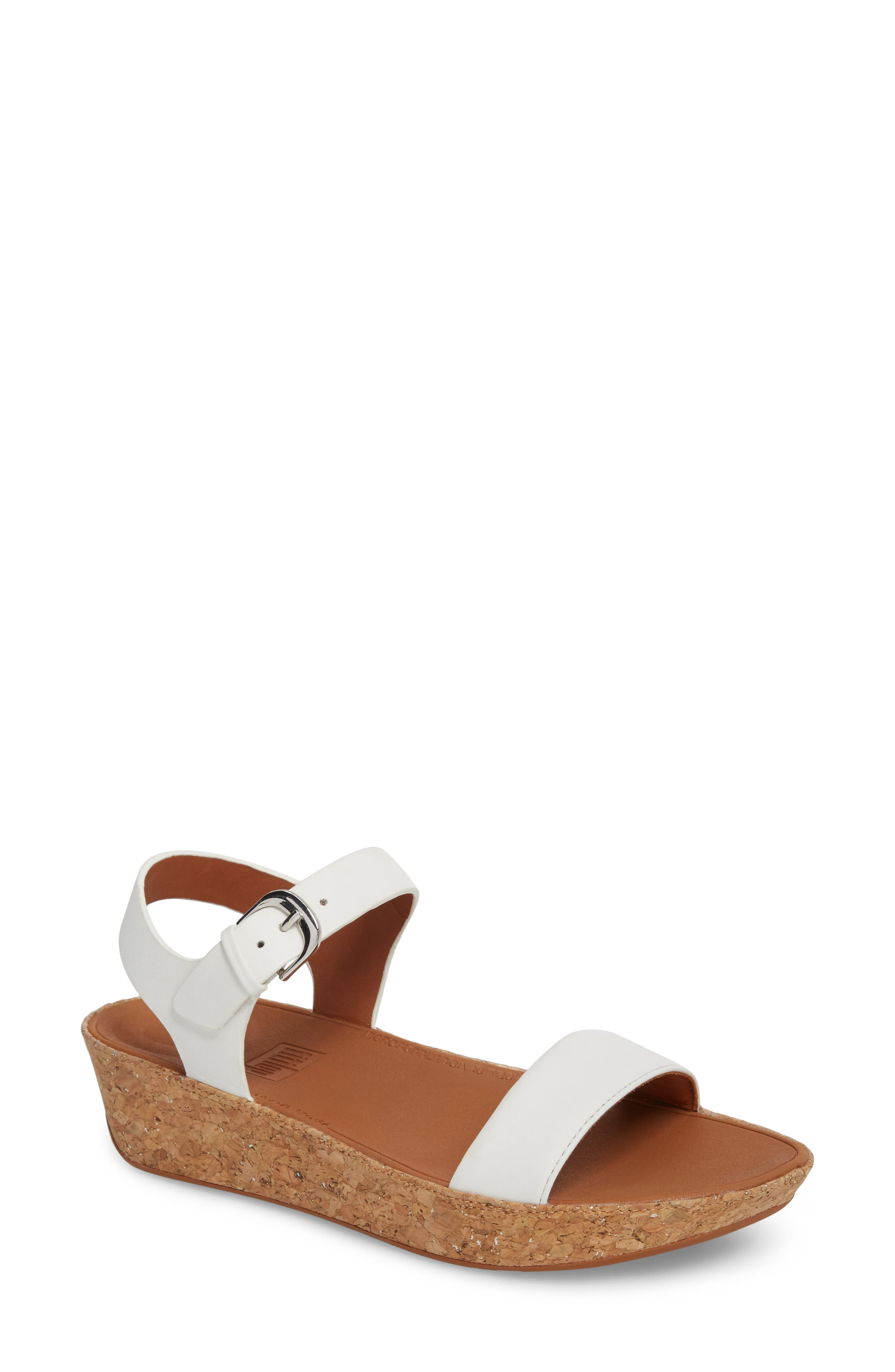 Bon II Platform Sandal,                         Main,                         color, Urban White Leather