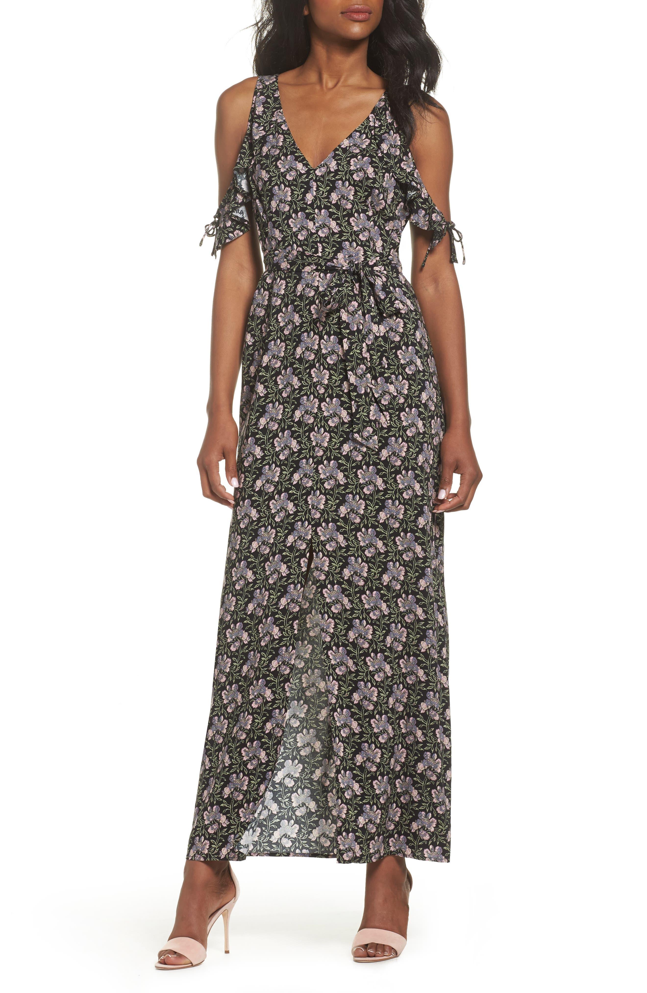 Main Image - PAIGE Lystra Cold Shoulder Maxi Dress
