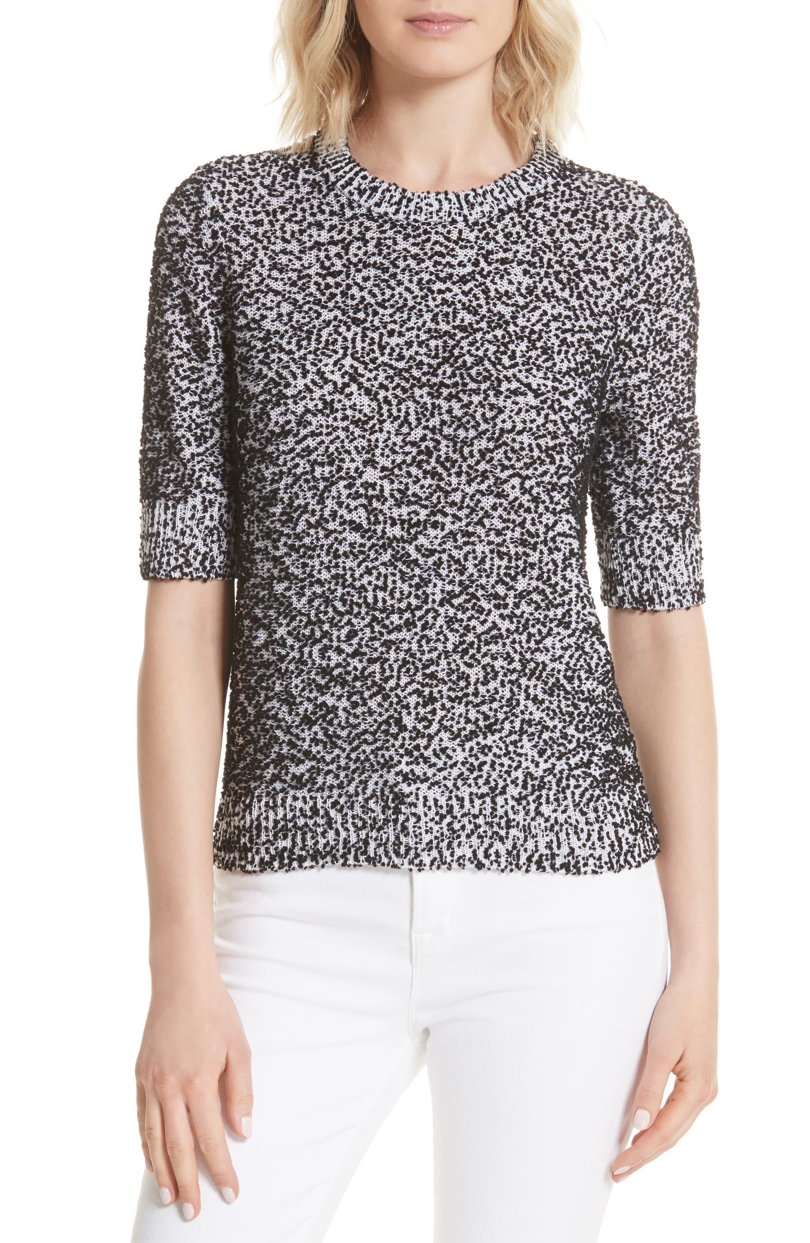 pom sweater,                             Main thumbnail 1, color,                             Black