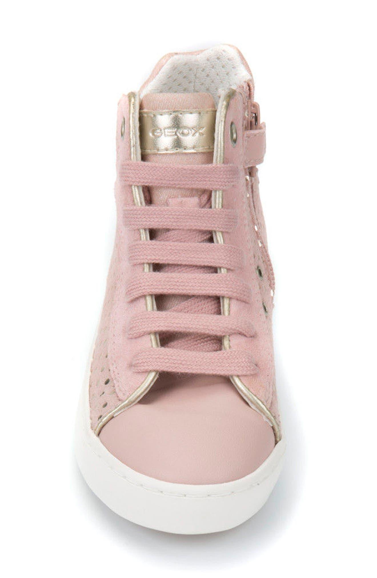 Kilwi High Top Zip Sneaker,                             Alternate thumbnail 4, color,                             Rose