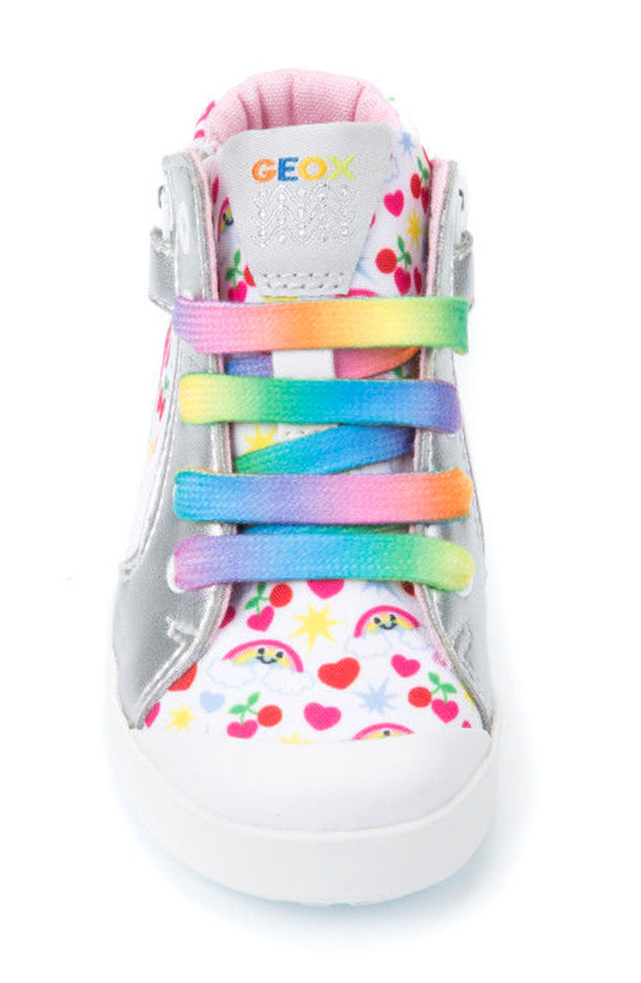Kilwi Patterned High Top Sneaker,                             Alternate thumbnail 4, color,                             White/ Multicolor