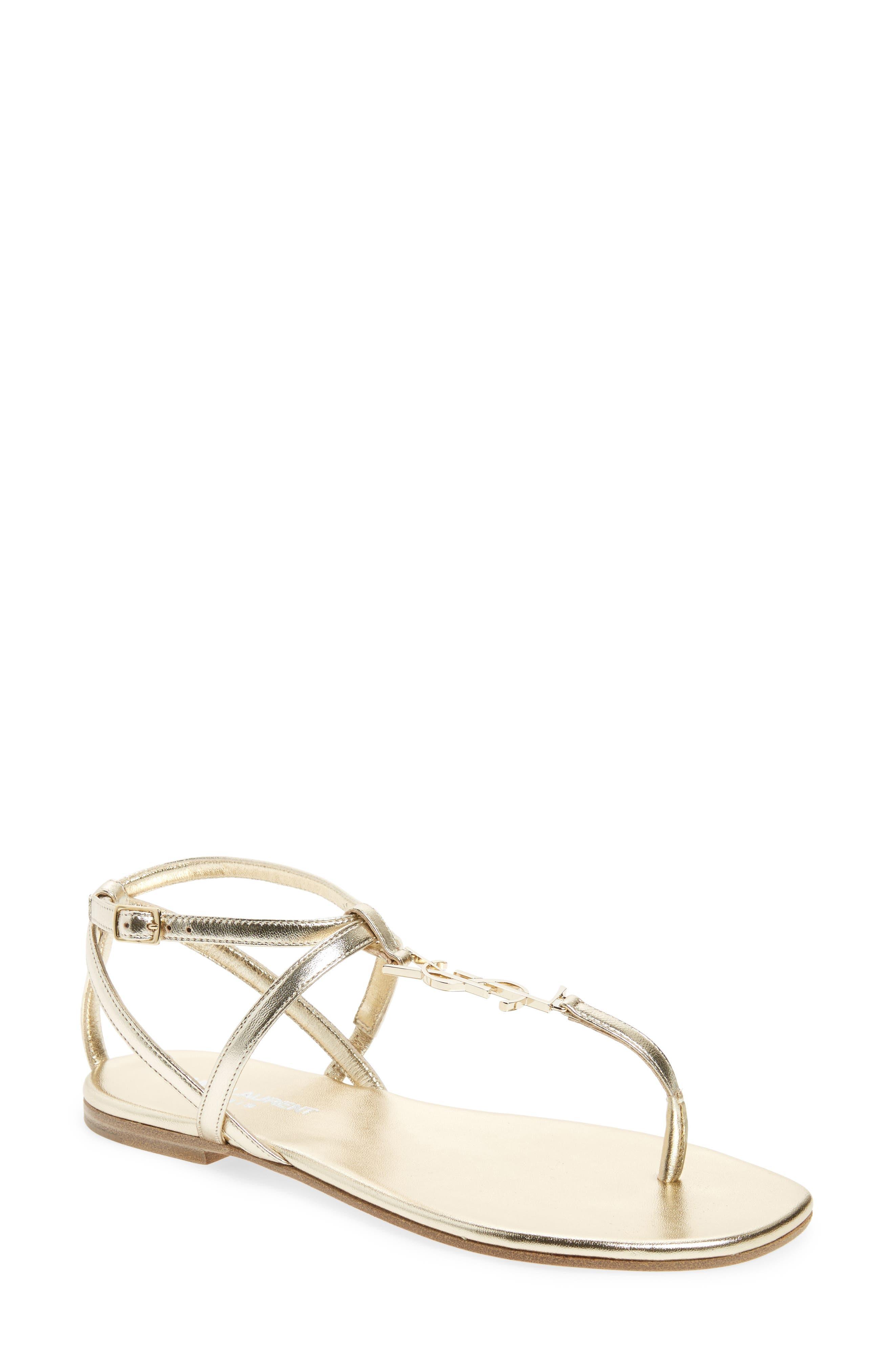 Main Image - Saint Laurent Nu Pied T-Strap Sandal (Women)