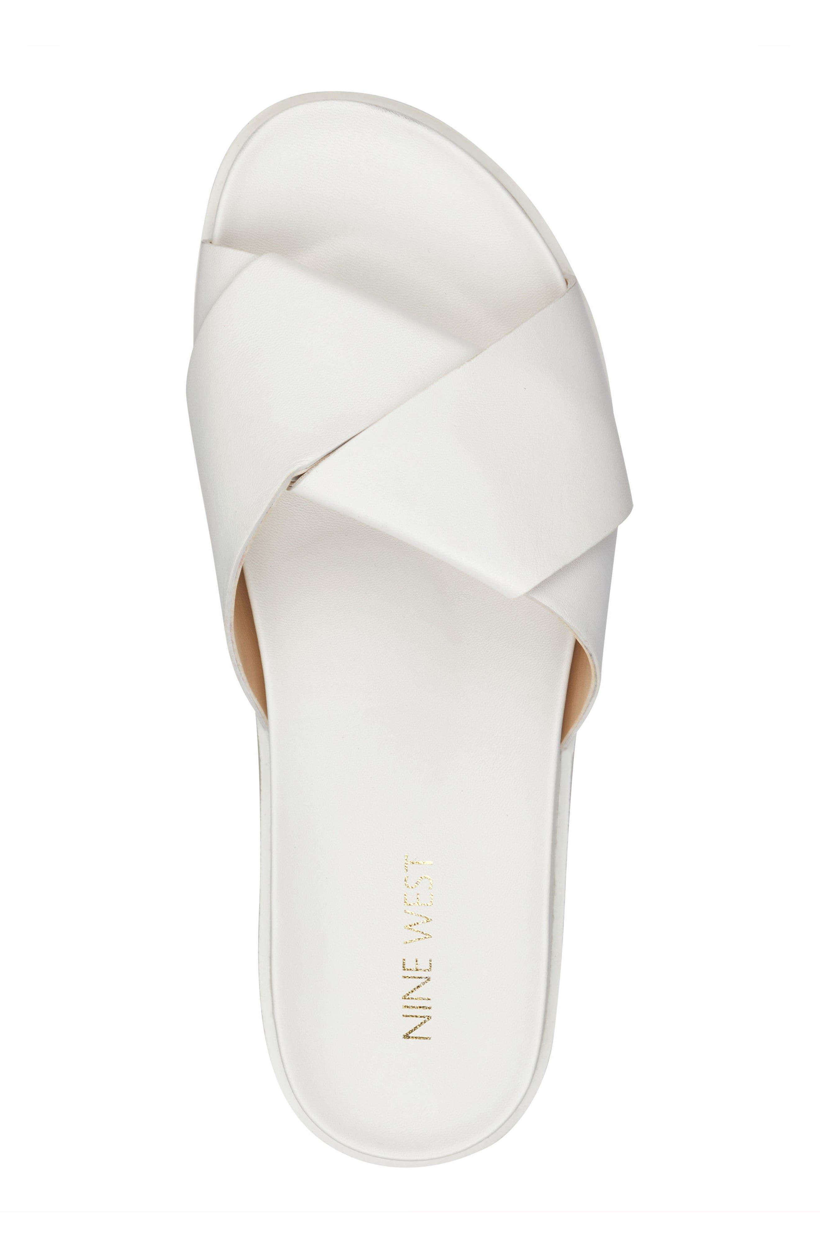 Furaish Slide Sandal,                             Alternate thumbnail 5, color,                             White Leather