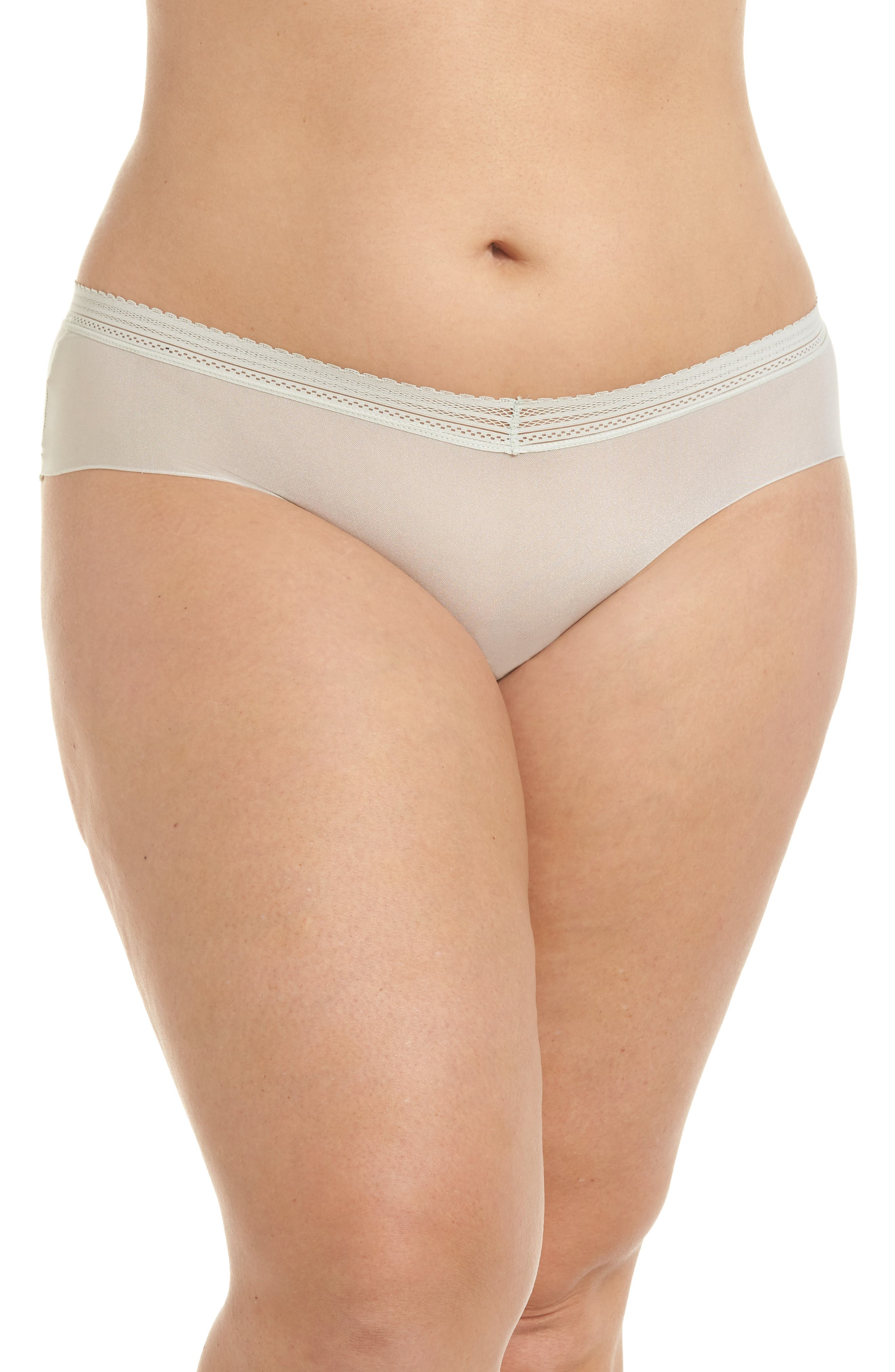 Laced In Aire Hipster Panties,                         Main,                         color, Desert Sage