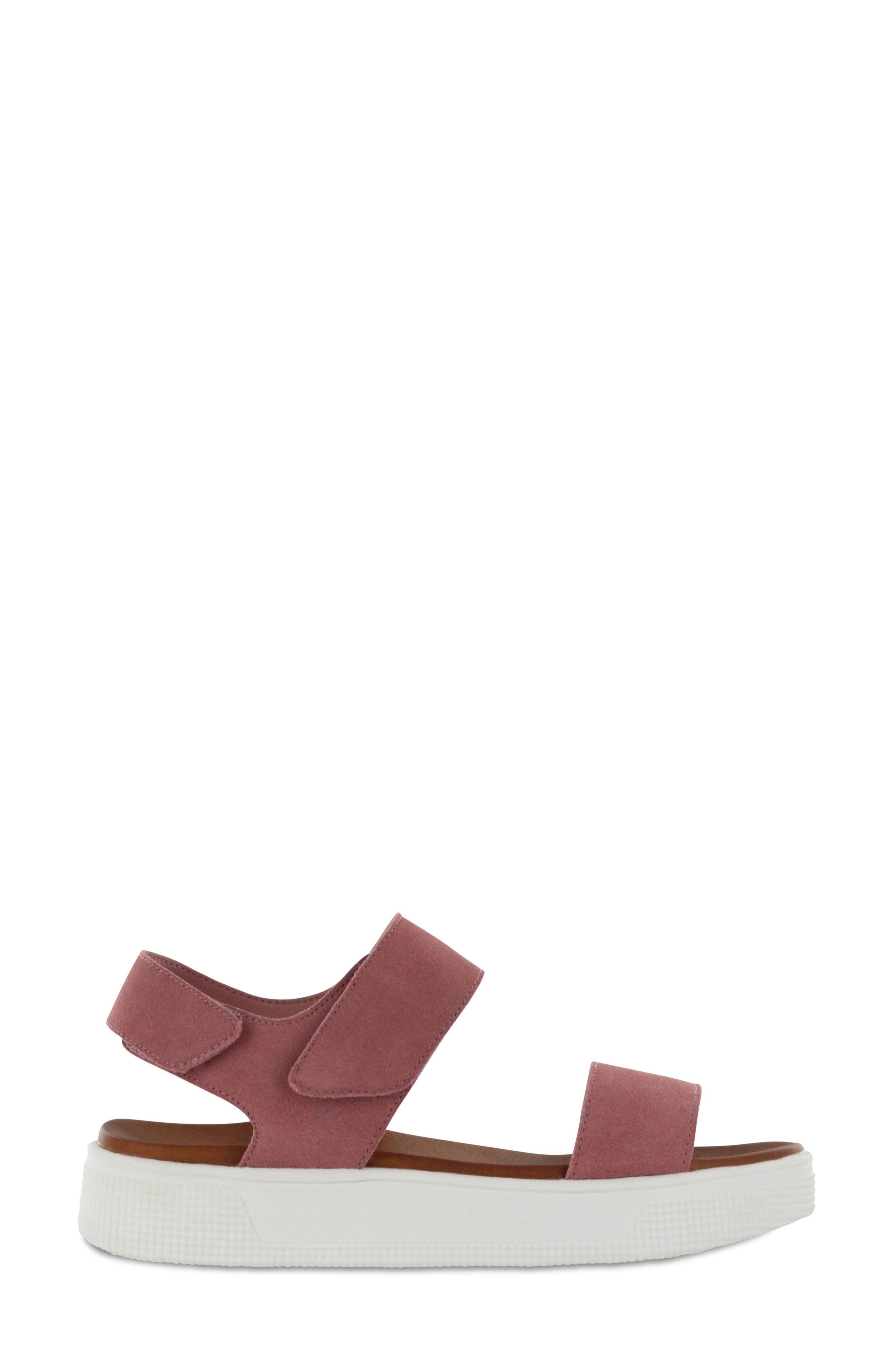 Troy Slingback Platform Sandal,                             Alternate thumbnail 3, color,                             Mauve Suede